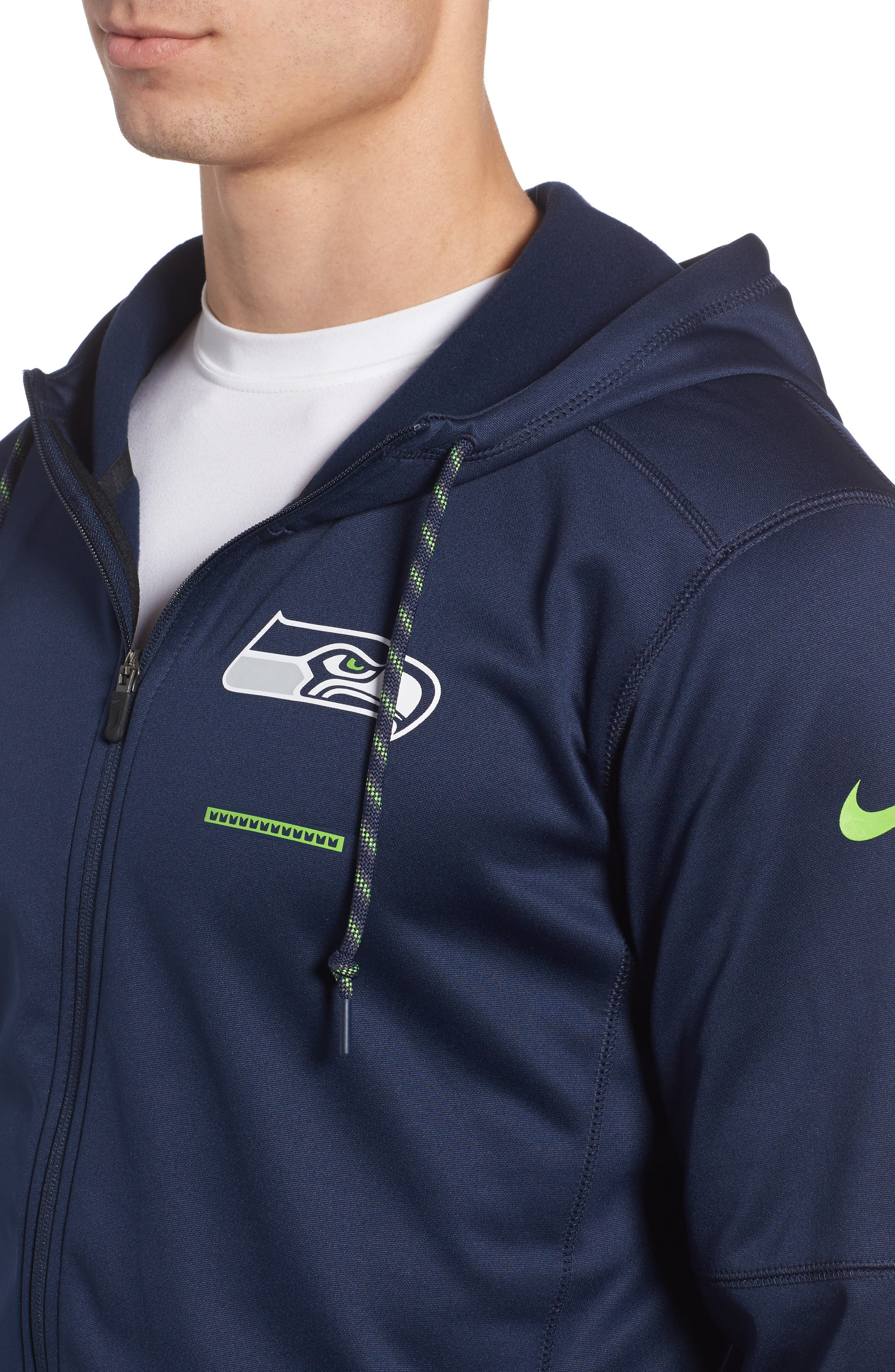 Therma-FIT NFL Graphic Zip Hoodie,                             Alternate thumbnail 4, color,                             Seahawks