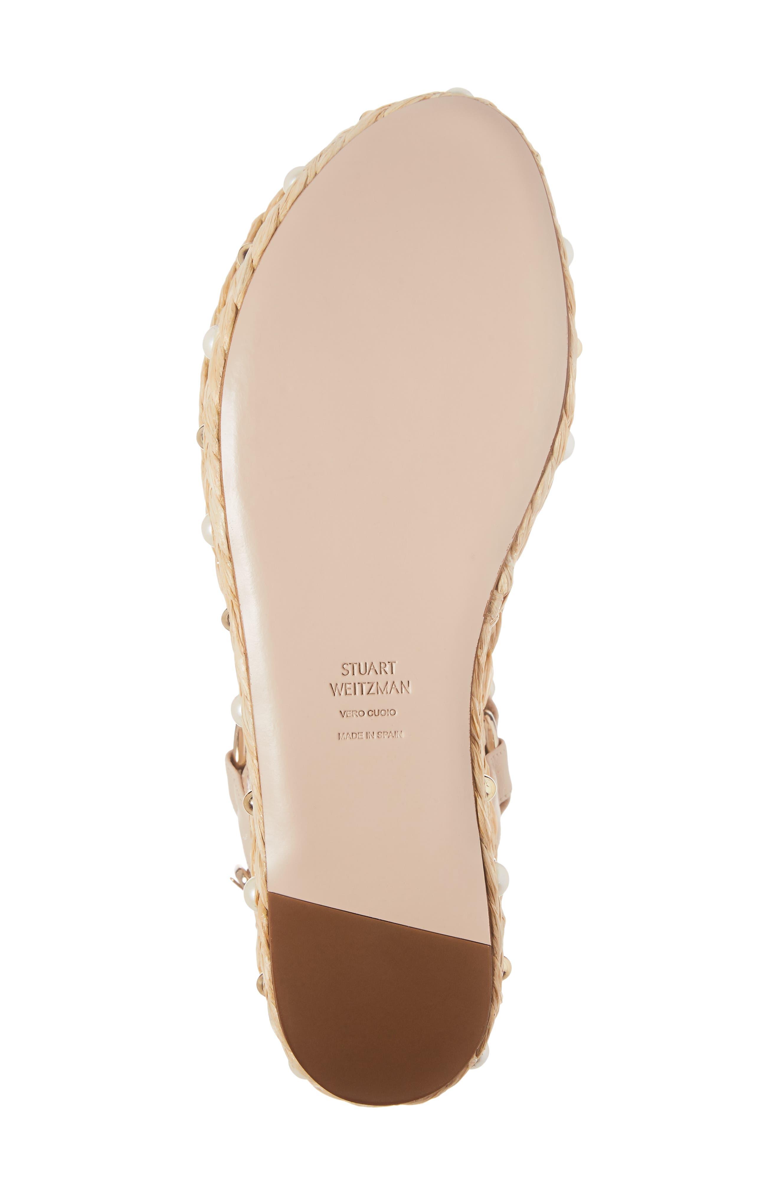 Beraffia Platform Sandal,                             Alternate thumbnail 6, color,                             Pan Vachetta