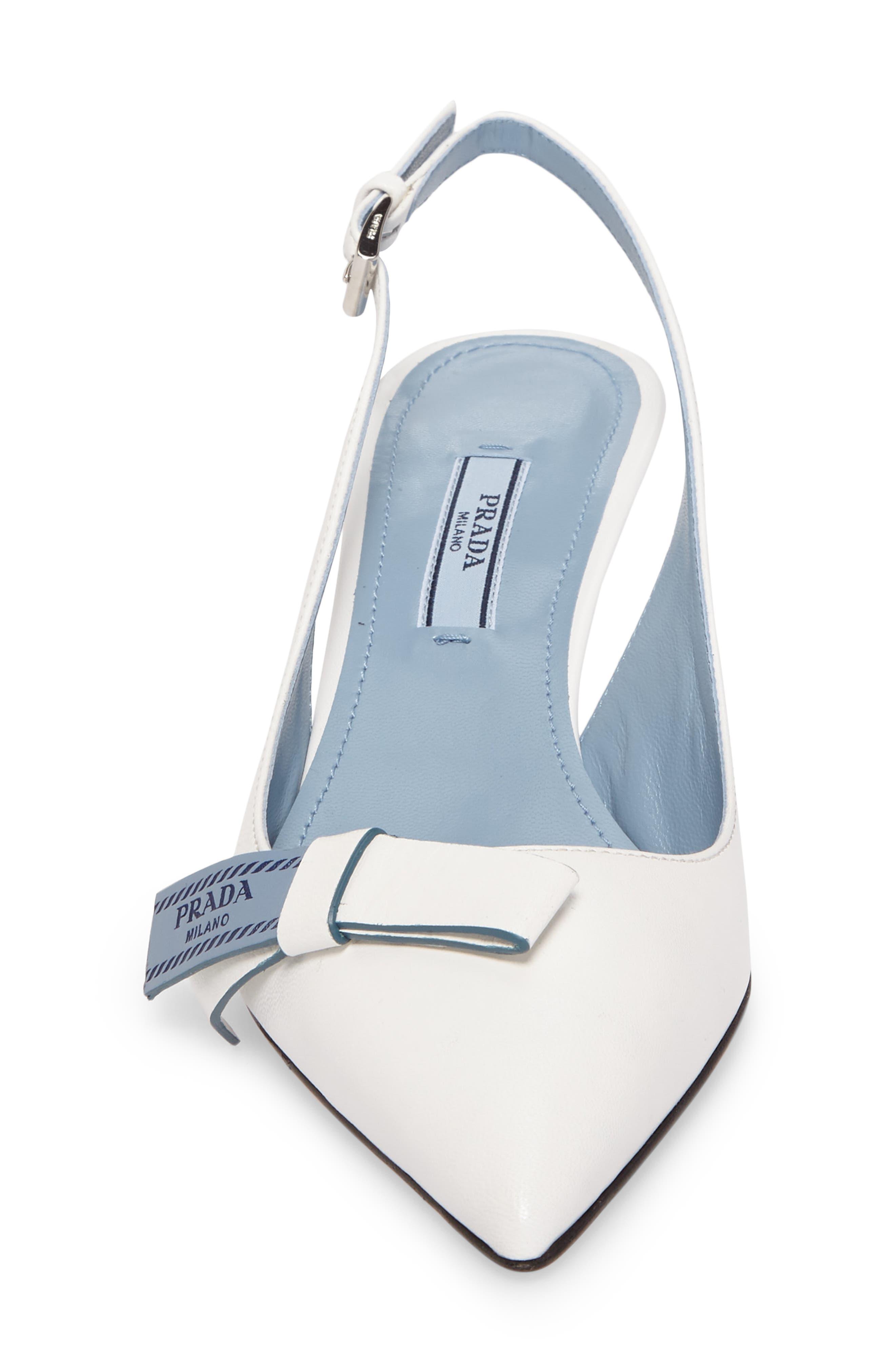 Alternate Image 4  - Prada Logo Bow Slingback Pump (Women)
