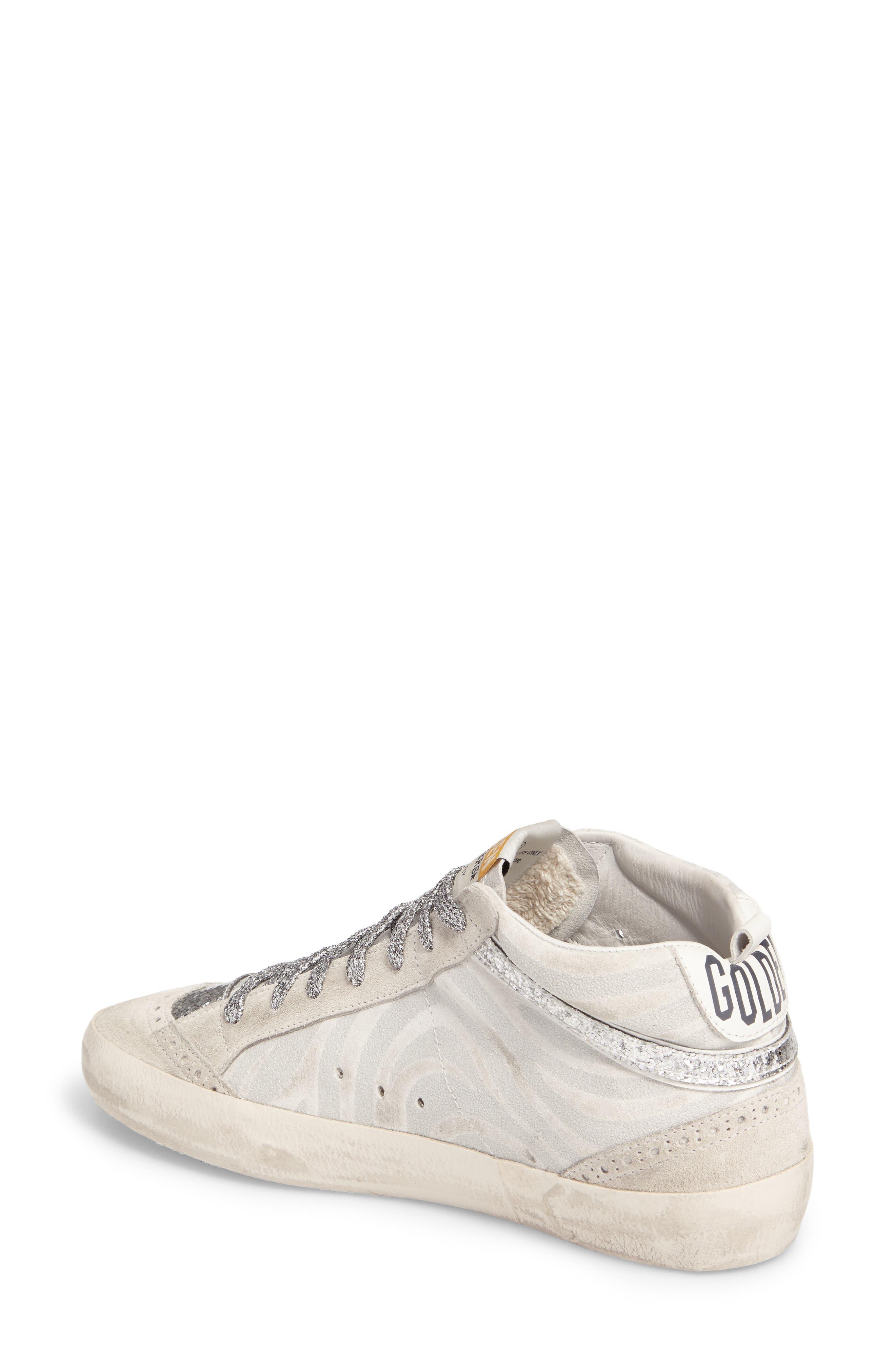 Star Mid Top Sneaker,                             Alternate thumbnail 2, color,                             White Zebra