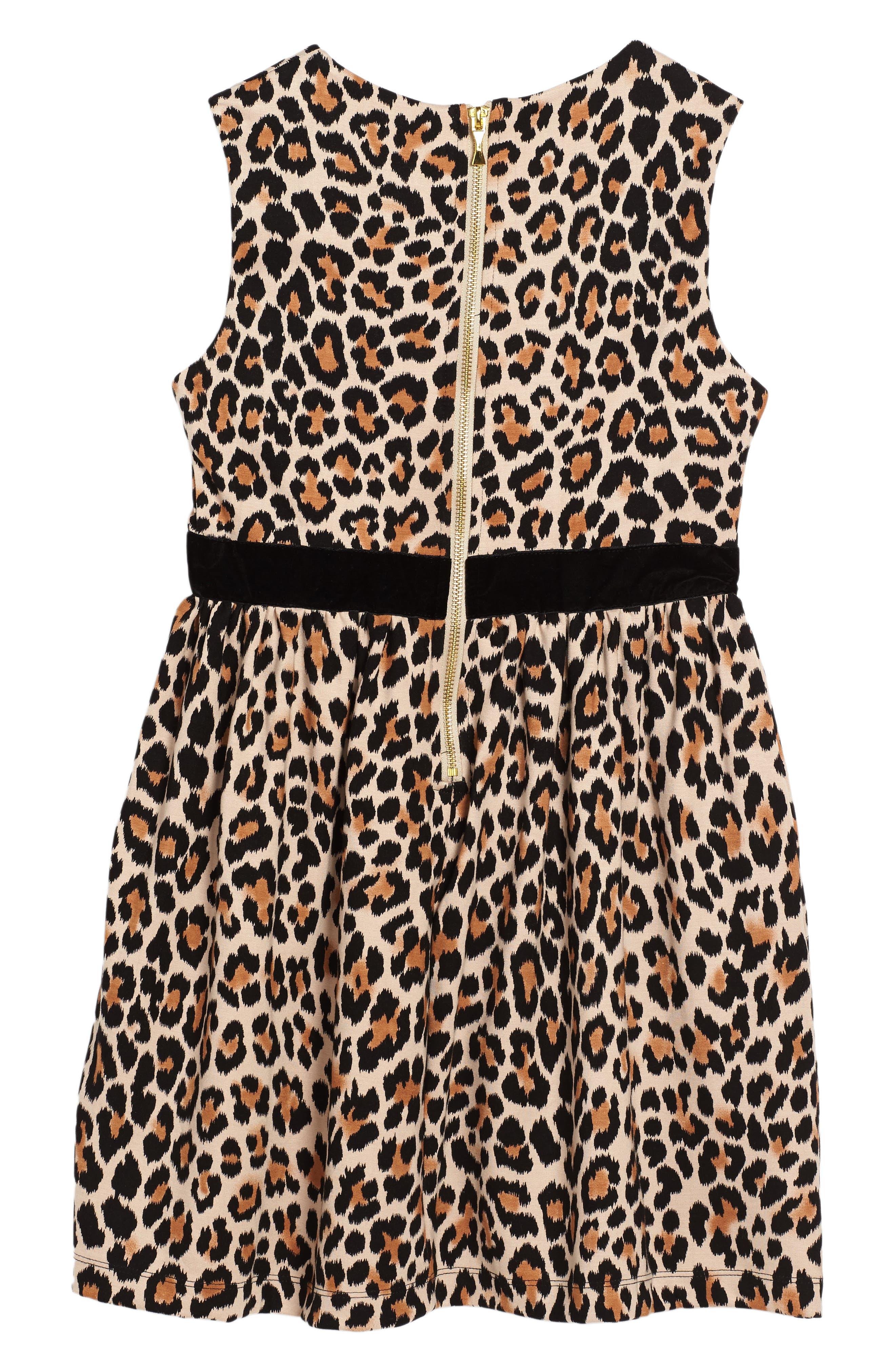 leopard print dress,                             Alternate thumbnail 2, color,                             Leopard