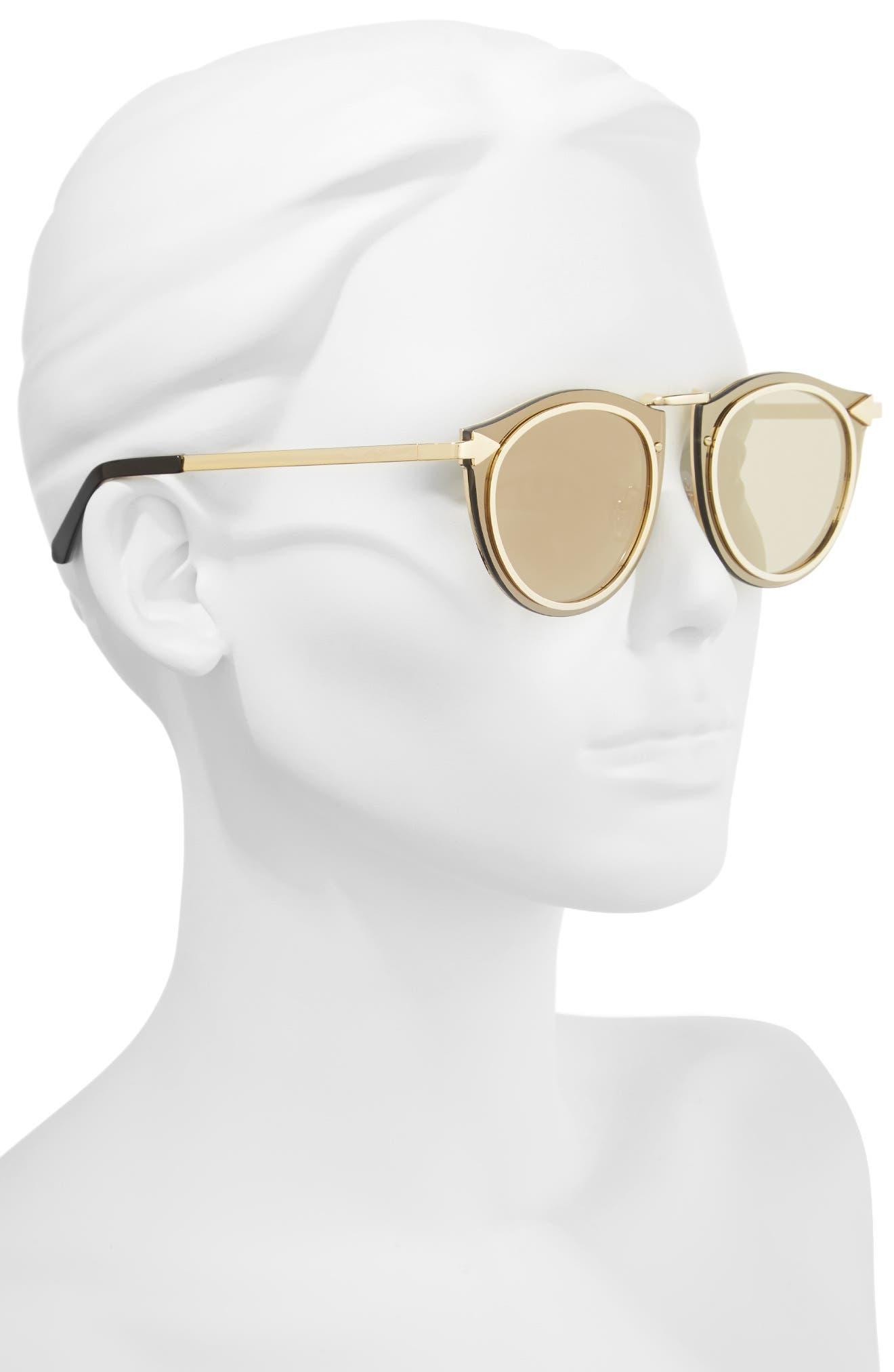 Superstars - Solar 50mm Retro Sunglasses,                             Alternate thumbnail 2, color,                             Gold