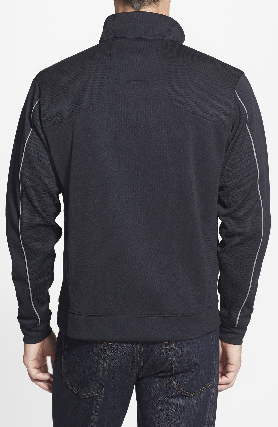 Alternate Image 2  - Cutter & Buck Baltimore Ravens - Edge DryTec Moisture Wicking Half Zip Pullover