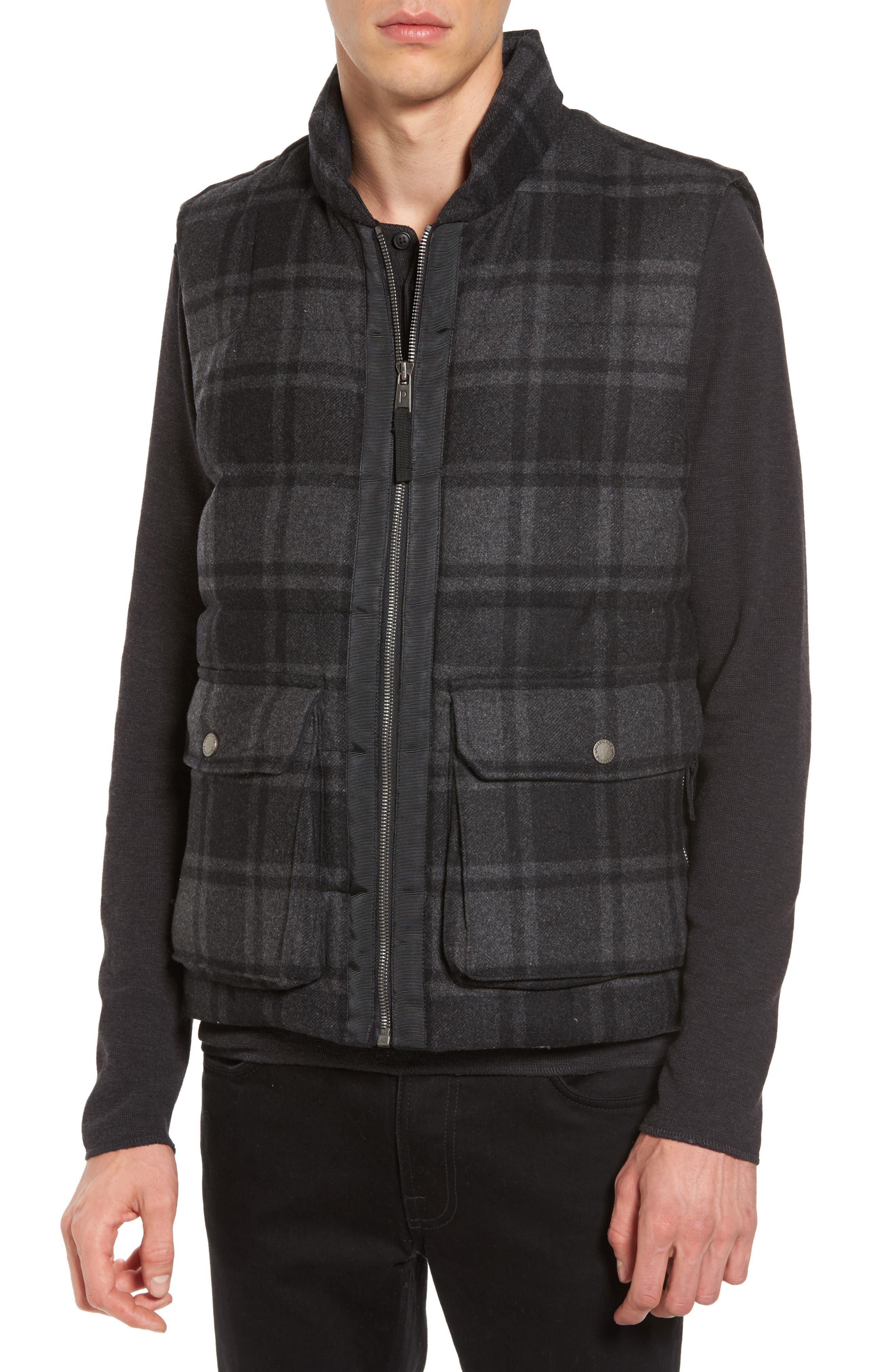Yosemite Jacket,                             Alternate thumbnail 6, color,                             Black/ Charcoal Plaid