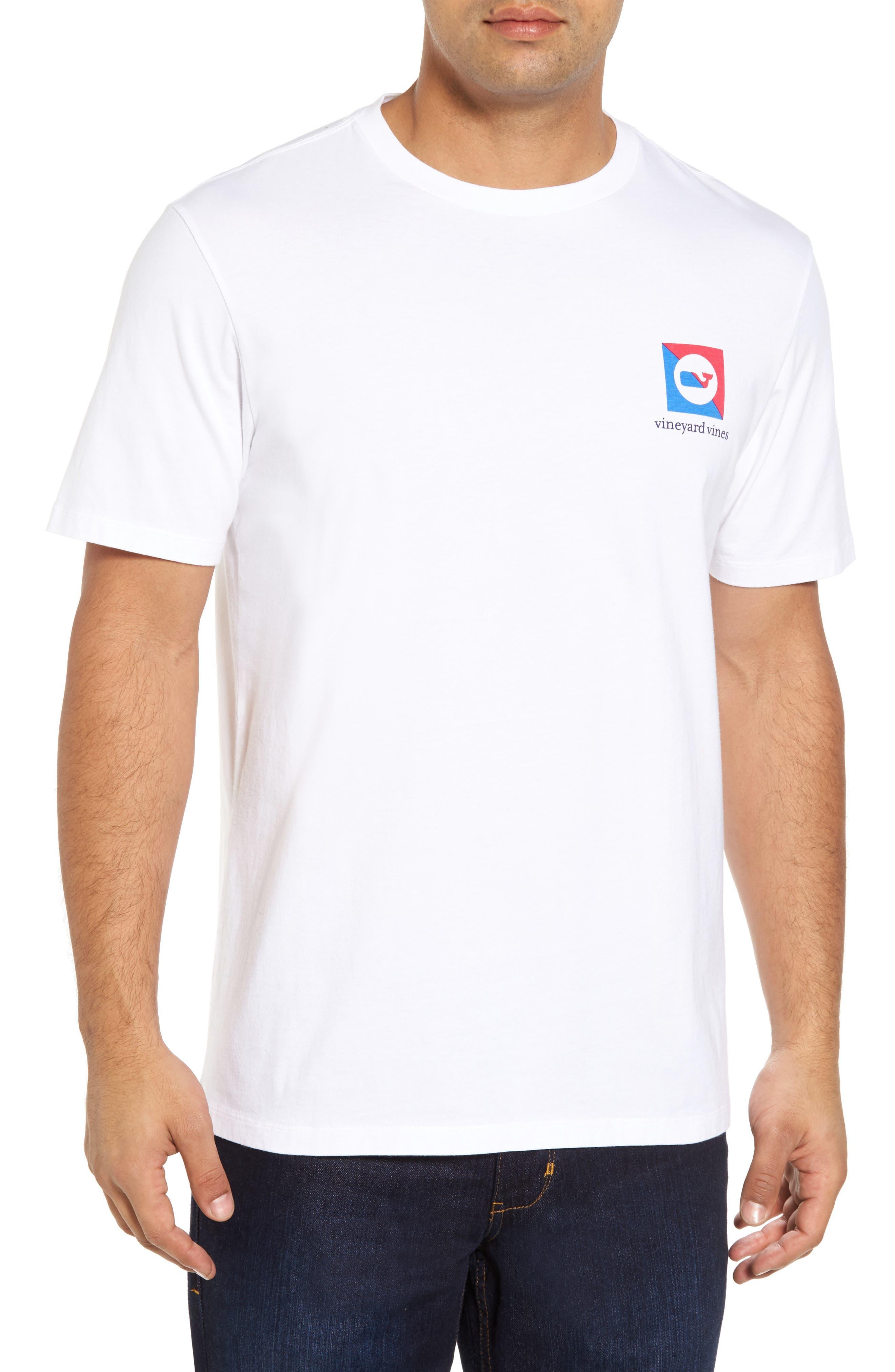 Split Burgee Logo T-Shirt,                             Alternate thumbnail 2, color,                             White Cap