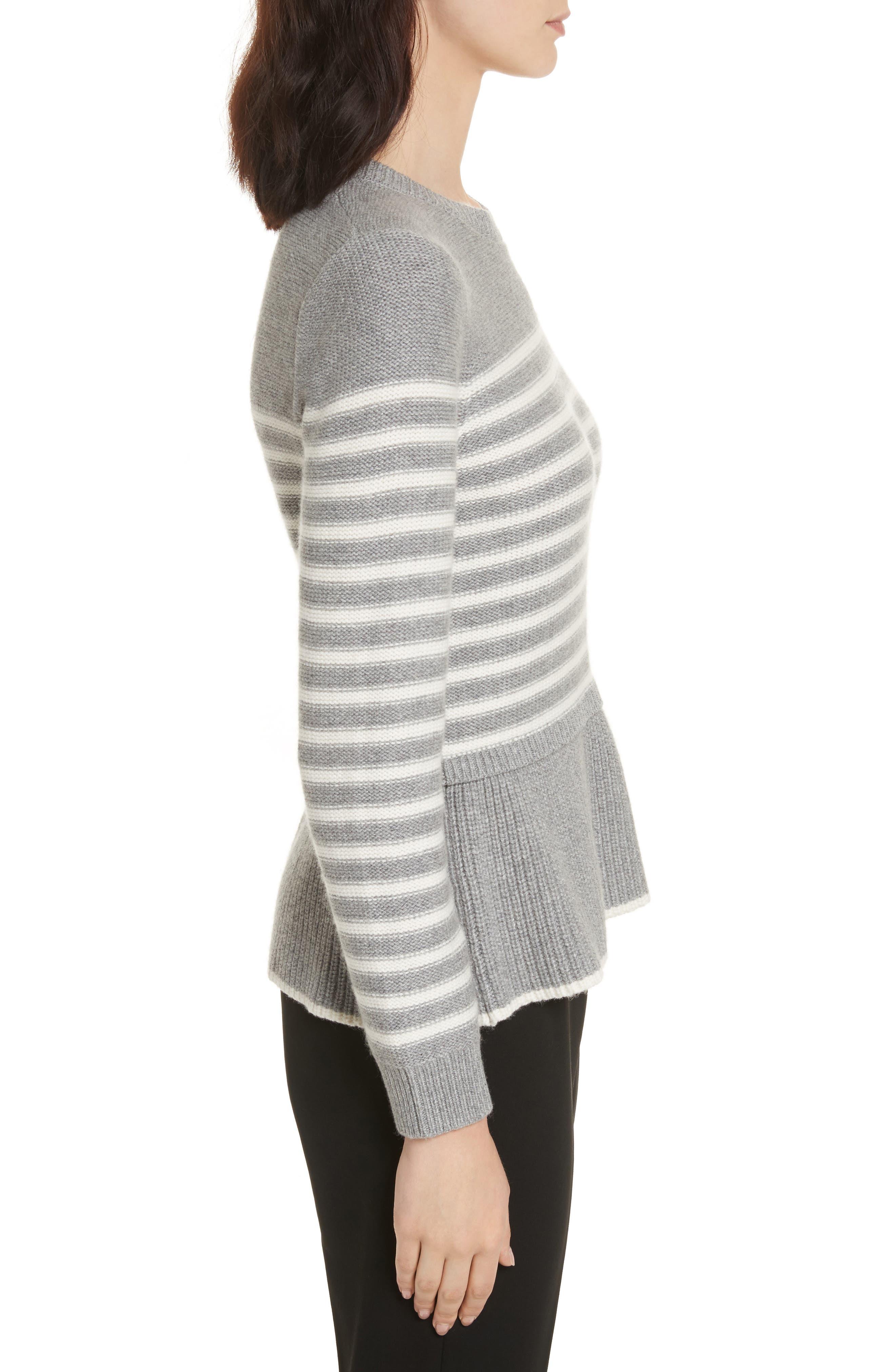 Alternate Image 3  - kate spade new york stripe peplum sweater