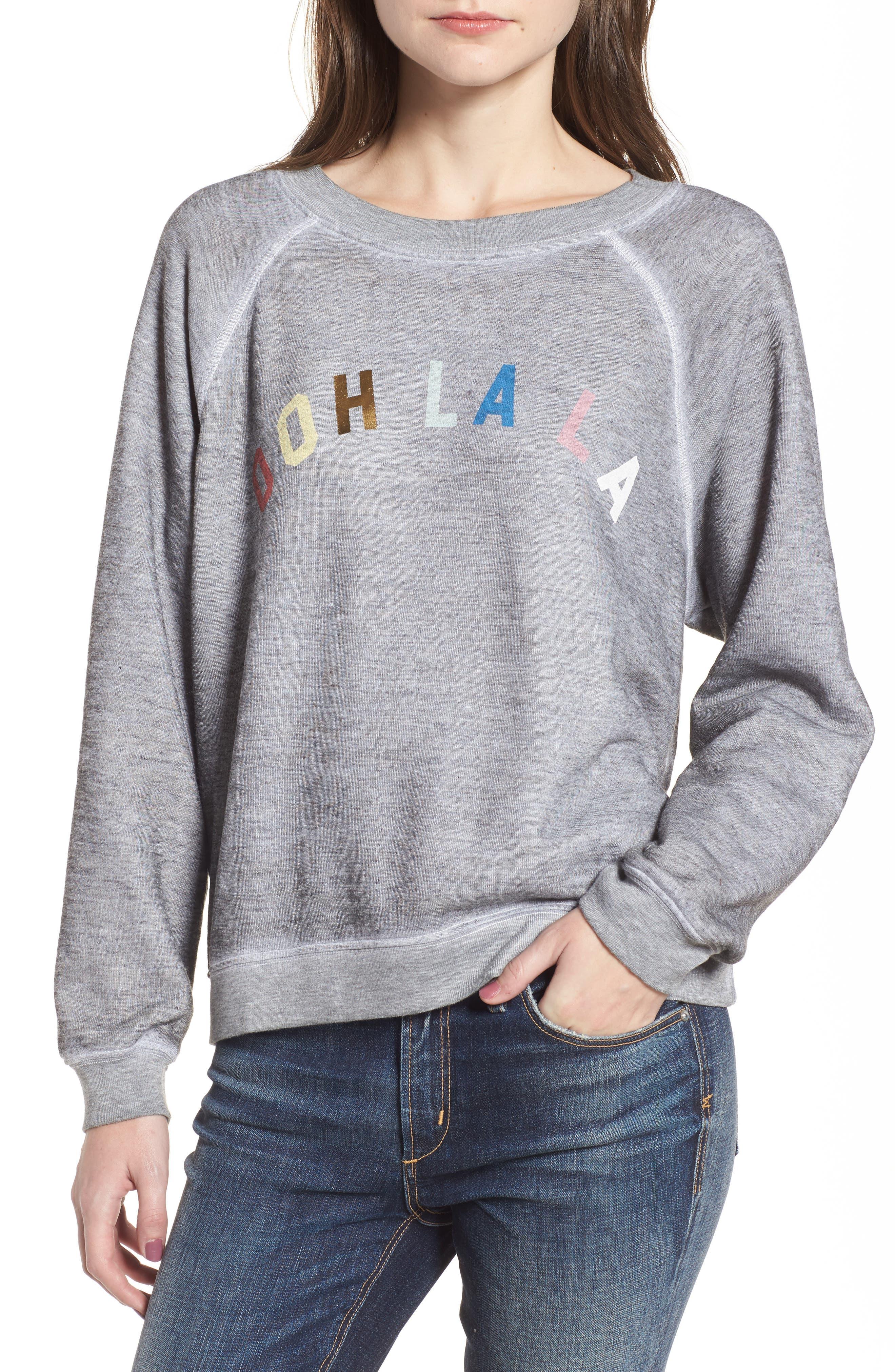 Ooh La La Sweatshirt,                         Main,                         color, Heather
