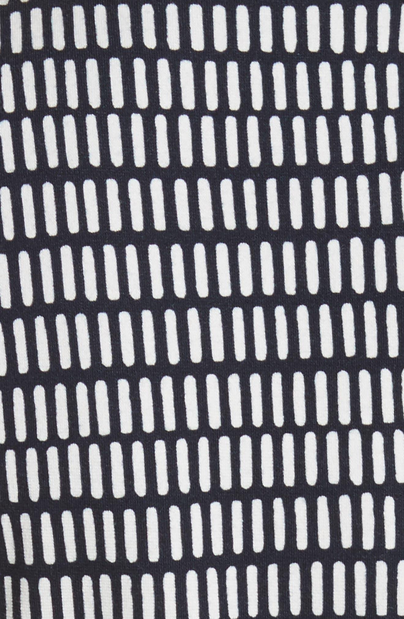 Felino Print Sheath Dress,                             Alternate thumbnail 5, color,                             Cornflower Blue