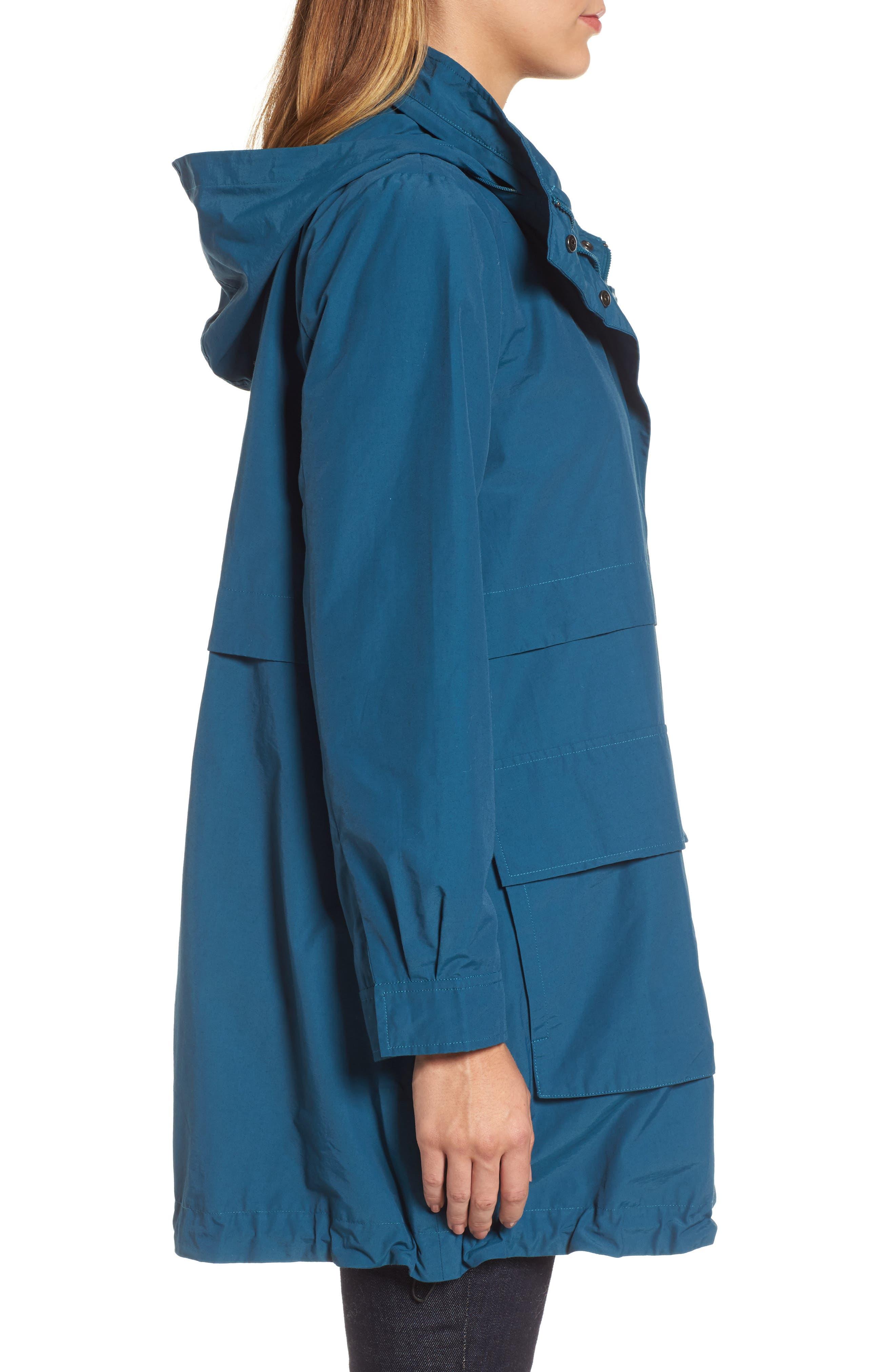 Hooded Utility Jacket,                             Alternate thumbnail 3, color,                             Blue Spruce
