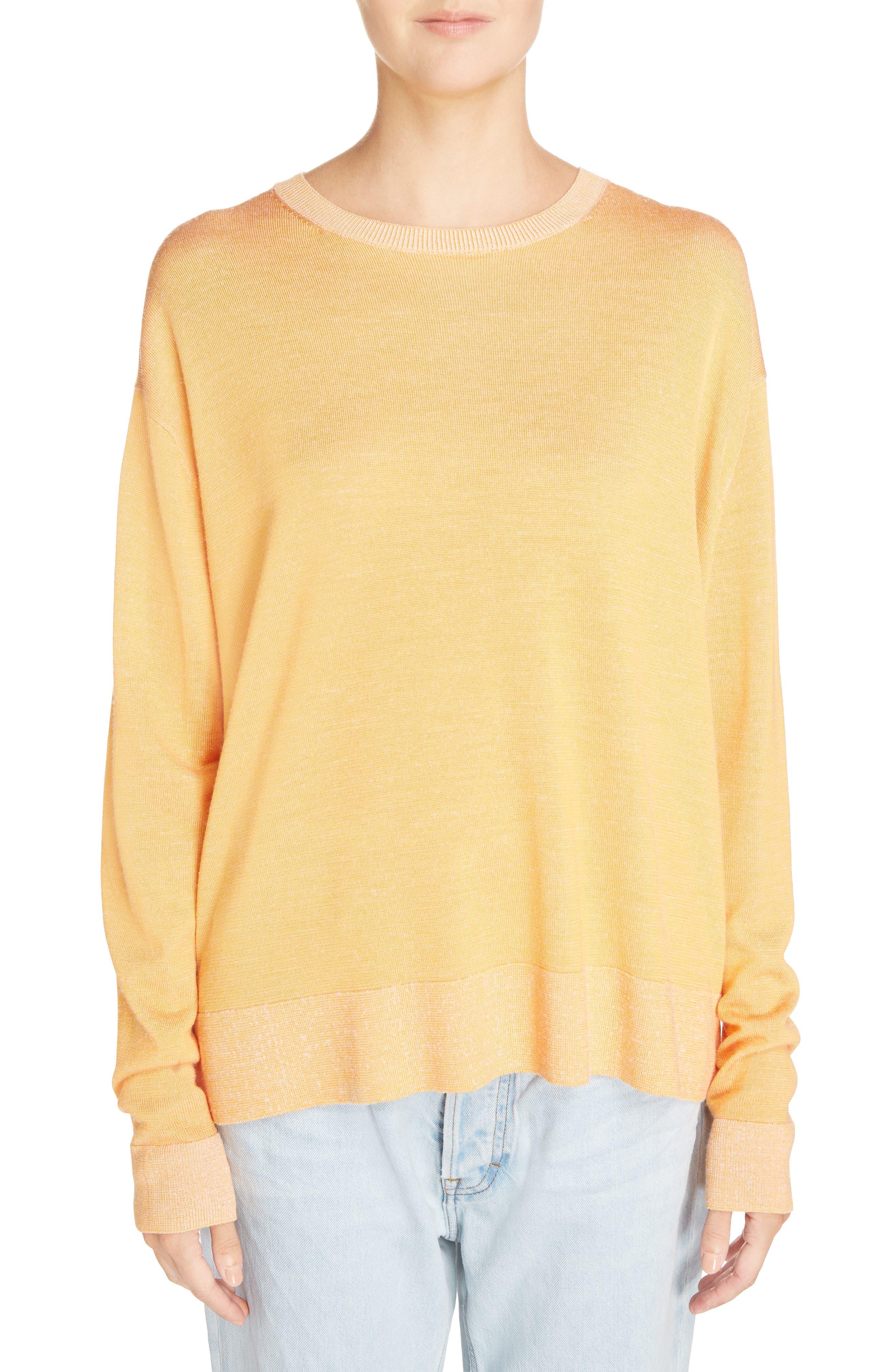 Finola 2-Tone Sweater,                         Main,                         color, Orange