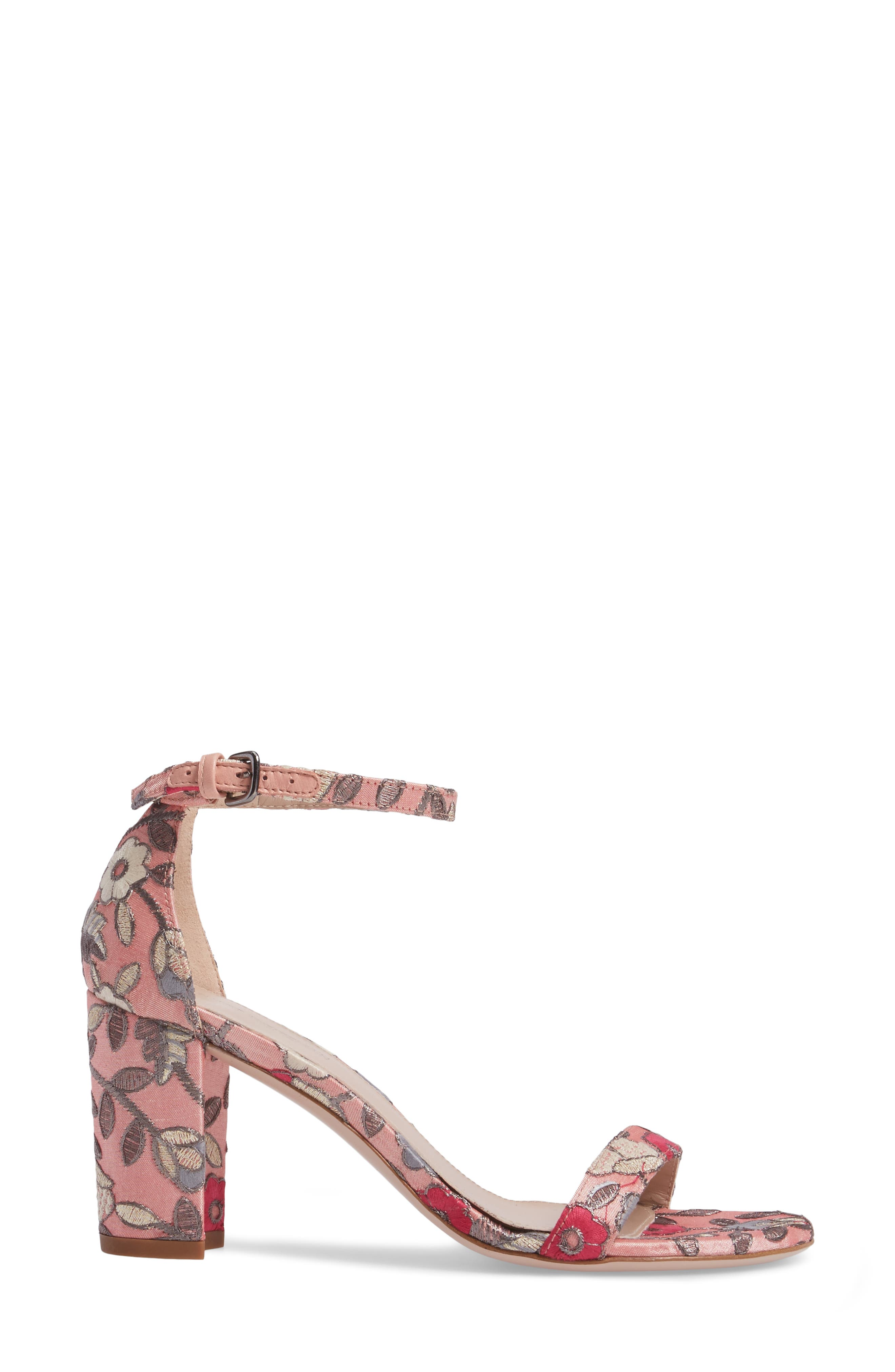 Alternate Image 3  - Stuart Weitzman NearlyNude Ankle Strap Sandal (Women)