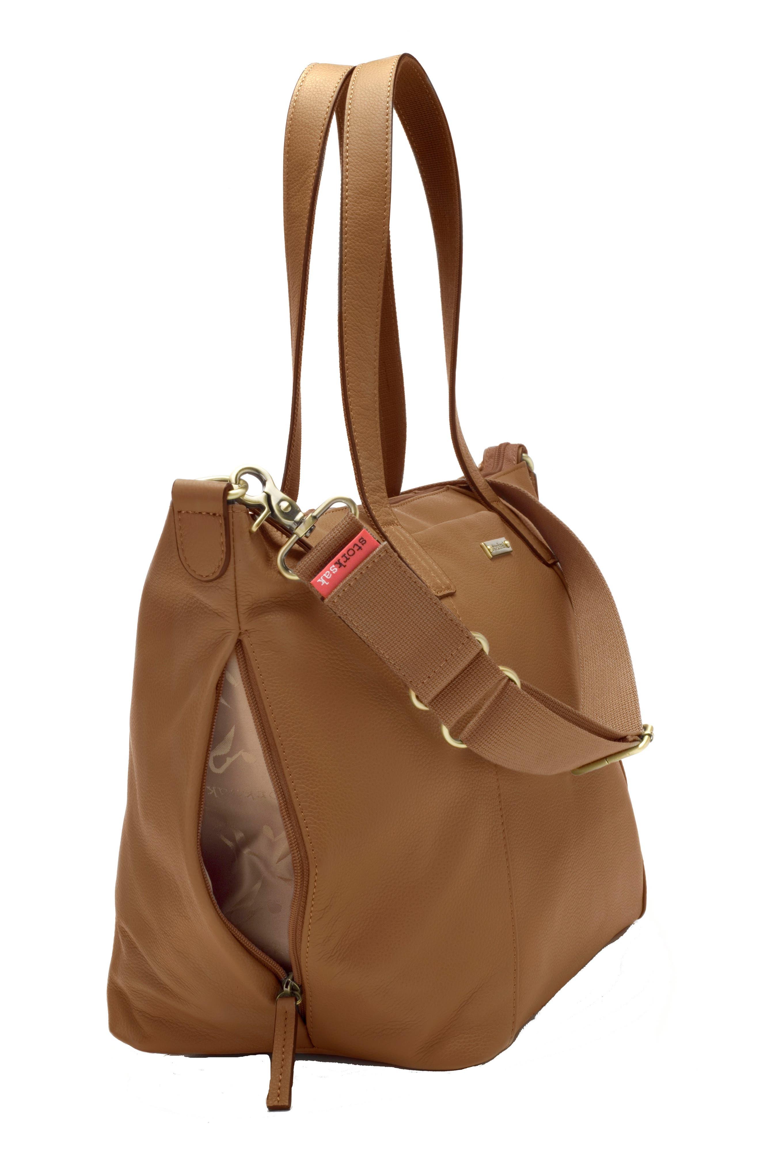 Alternate Image 6  - Storksak NOA Leather Diaper Bag