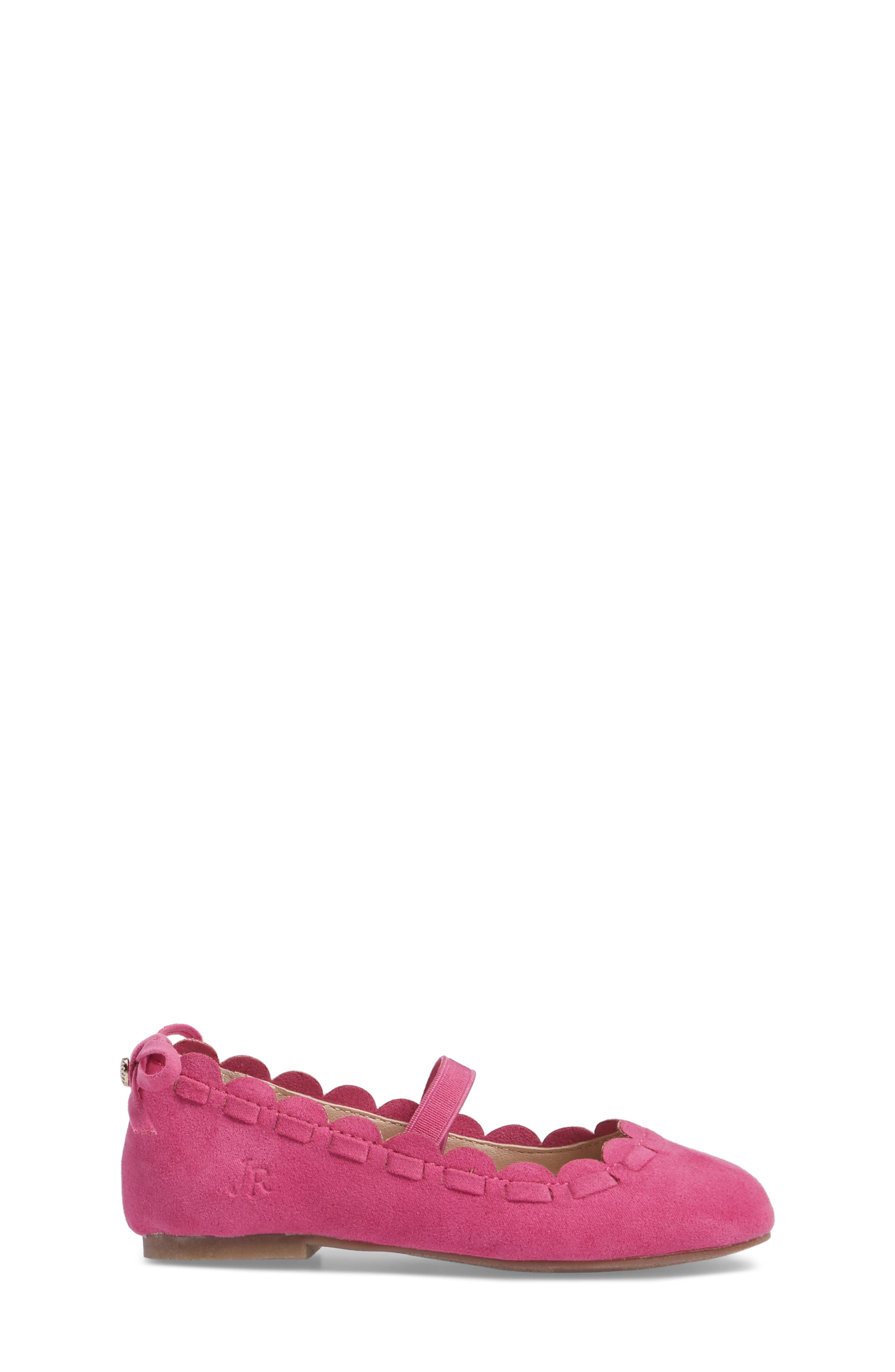 Alternate Image 3  - Jack Rogers Little Miss Lucie Scalloped Mary Jane Flat (Walker & Toddler)