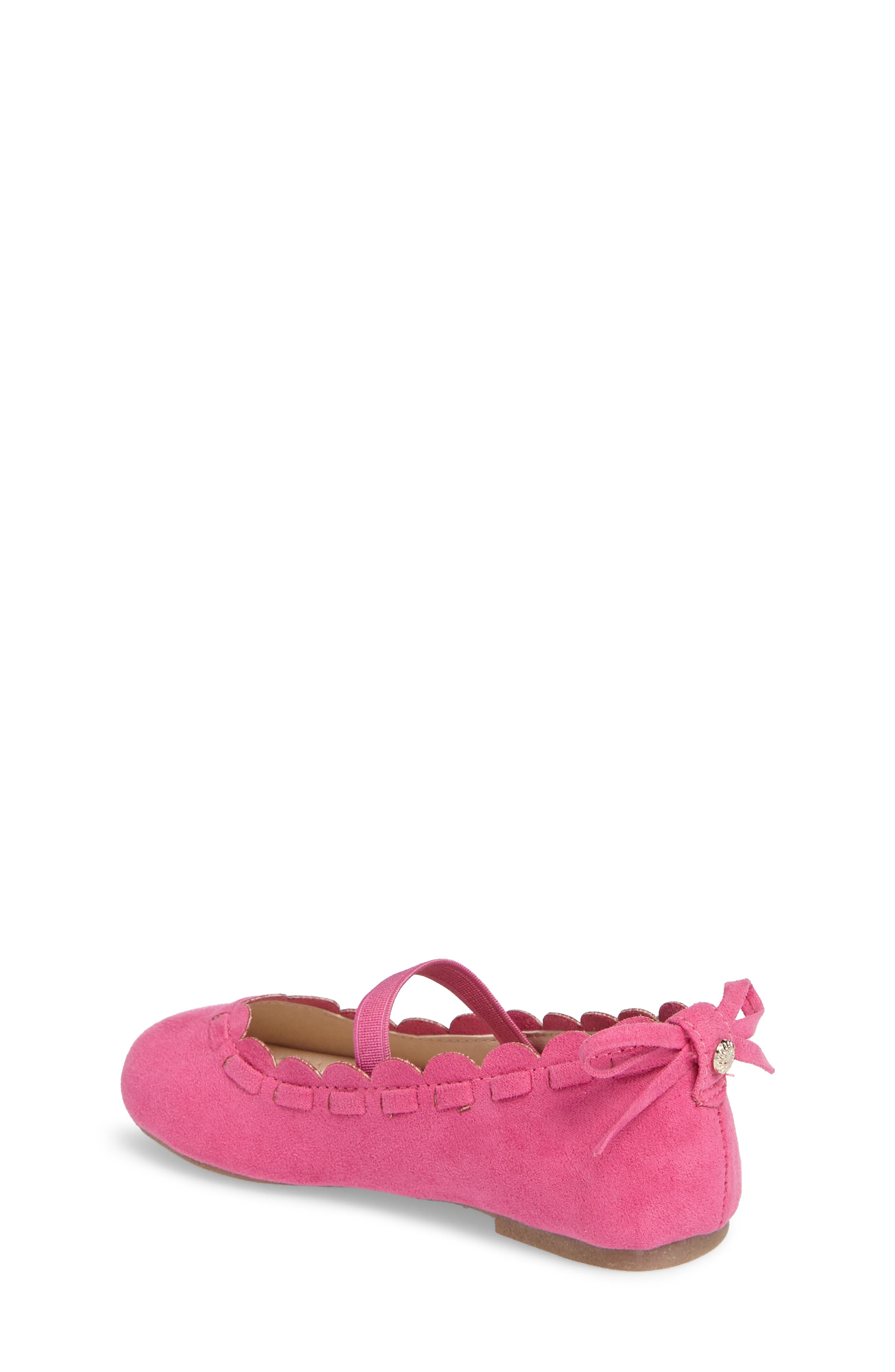 Alternate Image 2  - Jack Rogers Little Miss Lucie Scalloped Mary Jane Flat (Walker & Toddler)