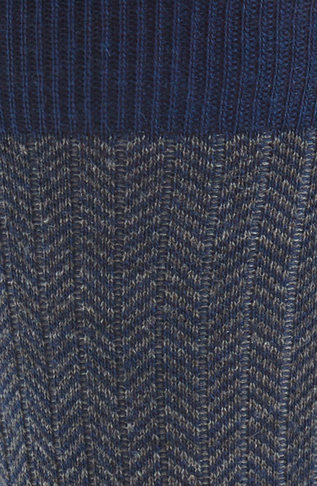 '5911' Mid-Calf Dress Socks,                             Alternate thumbnail 2, color,                             Dark Blue