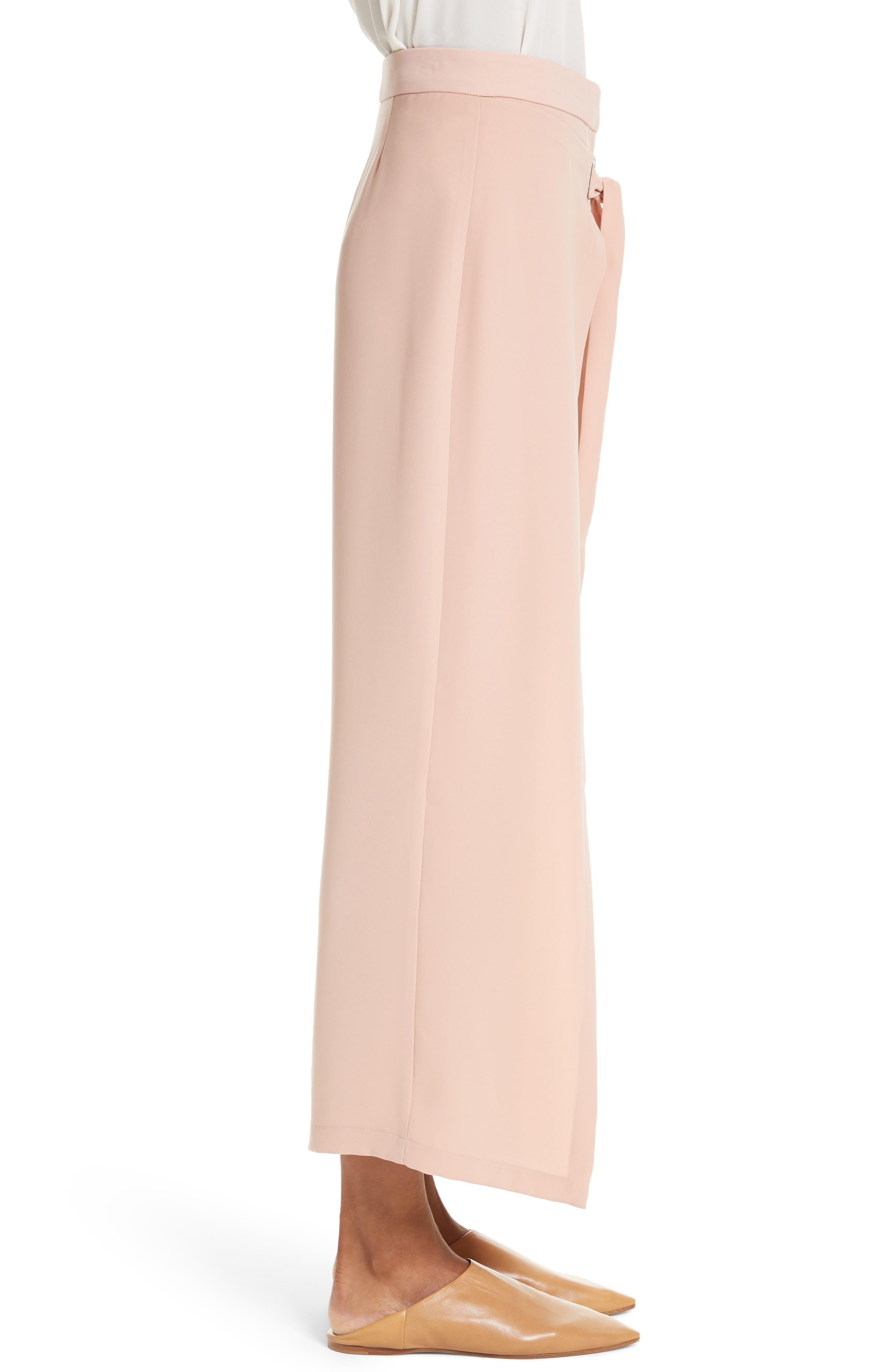 Tie Front Wrap Pants,                             Alternate thumbnail 3, color,                             Blush Pink