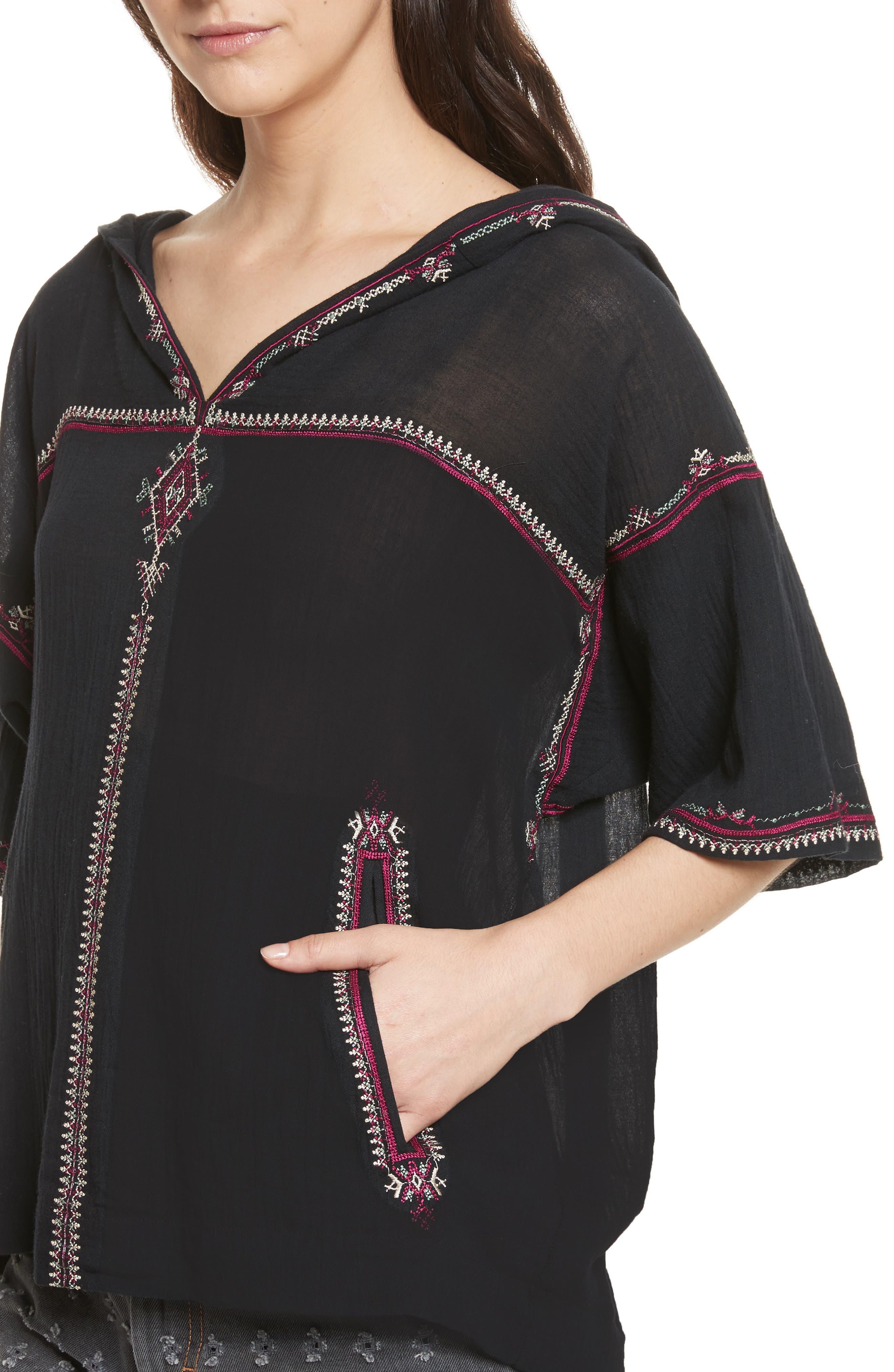 Alternate Image 4  - Isabel Marant Étoile Mekki Embroidered Cotton Top