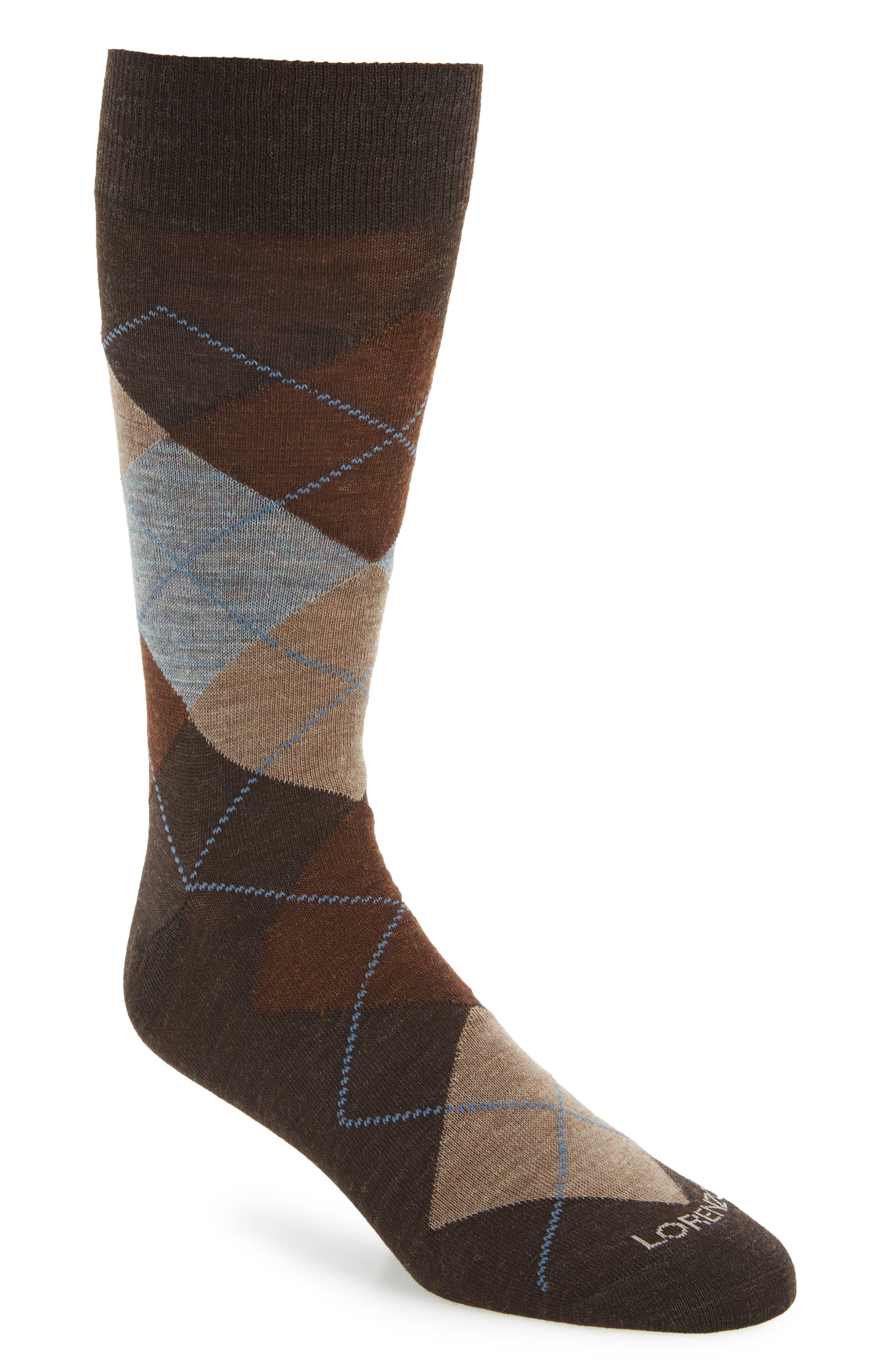 Lorenzo Uomo Argyle Socks
