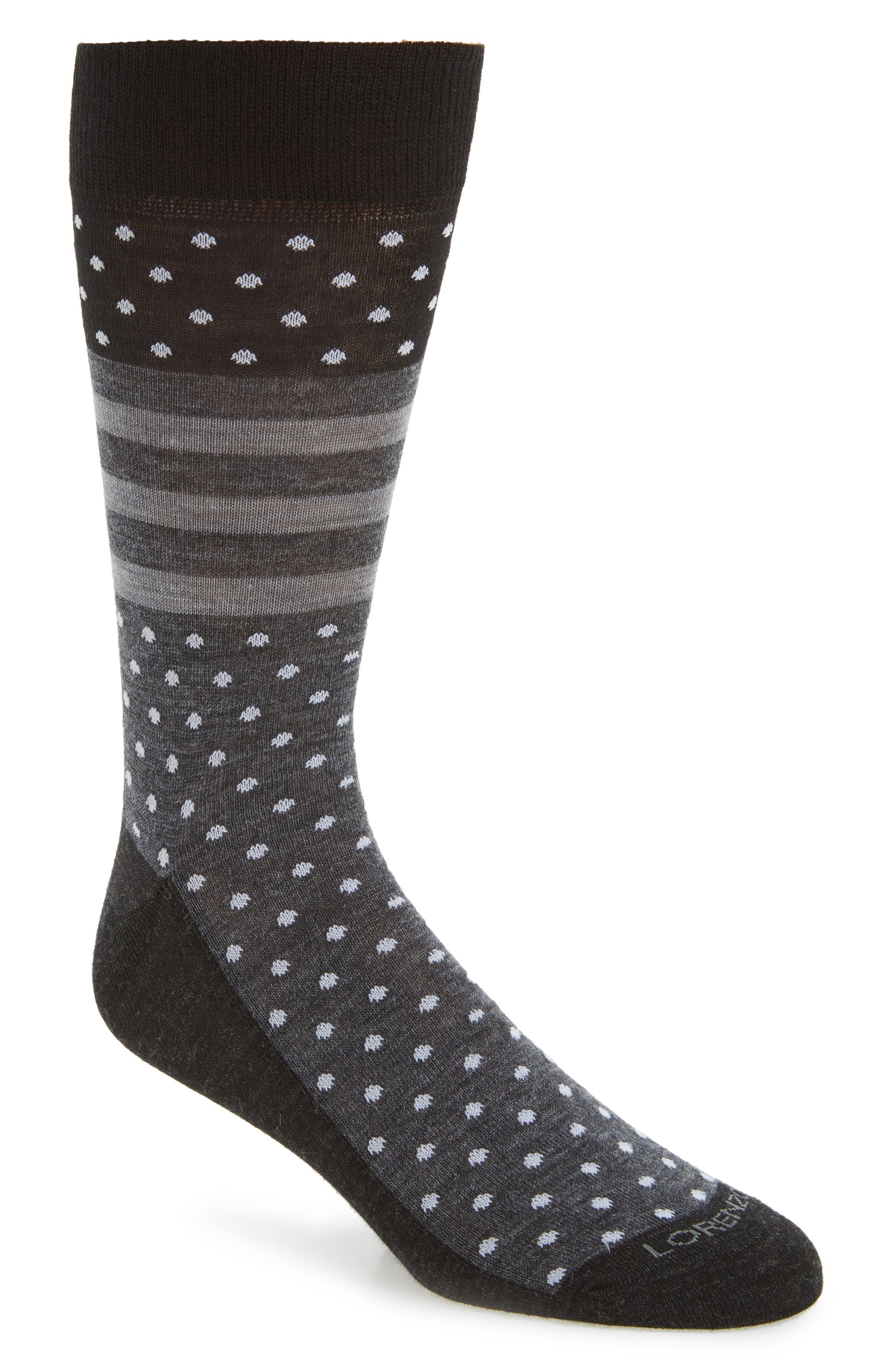 Lorenzo Uomo Winter Dot Stripe Socks