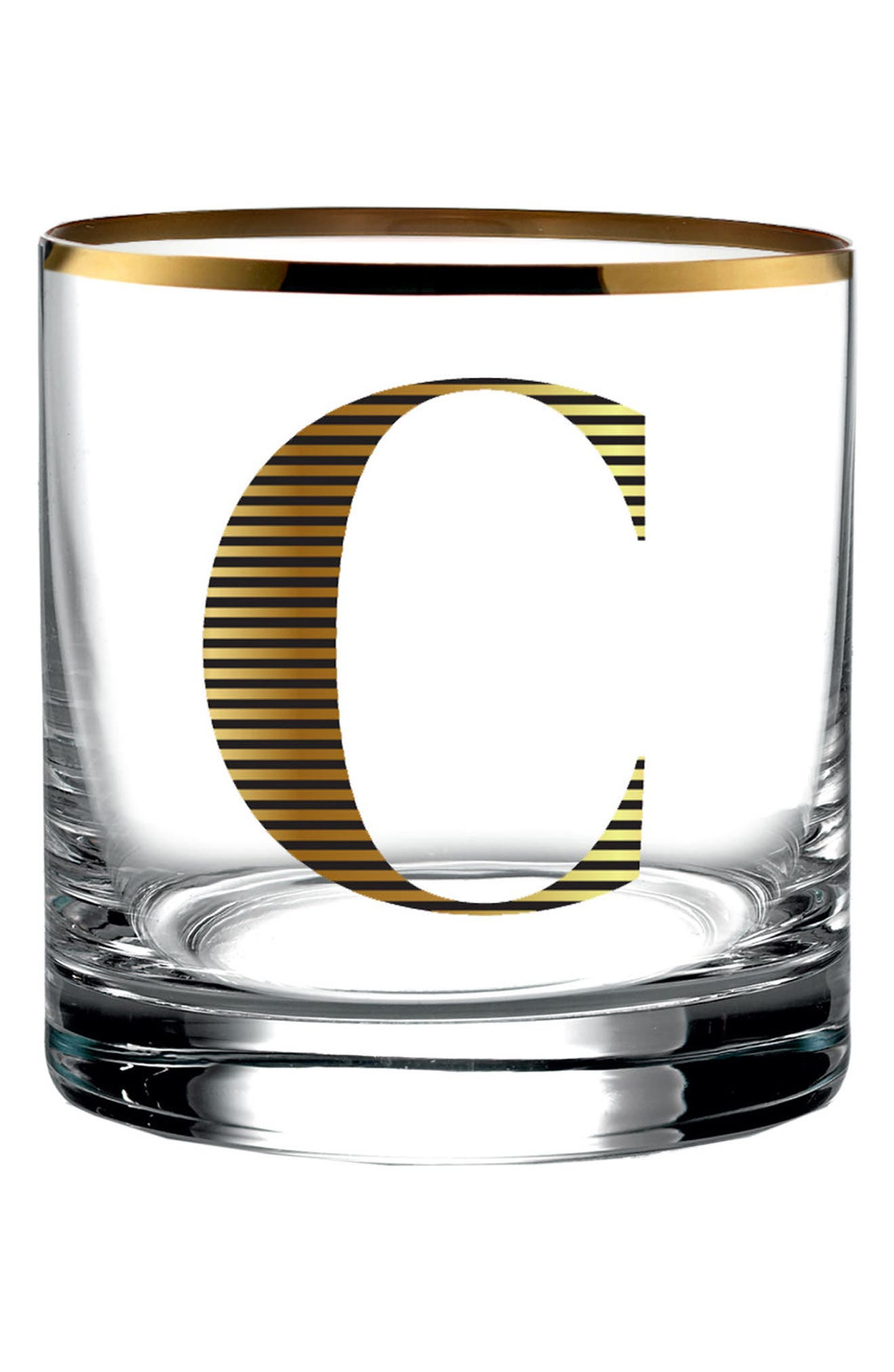 American Atelier Monogram Old Fashioned Glass