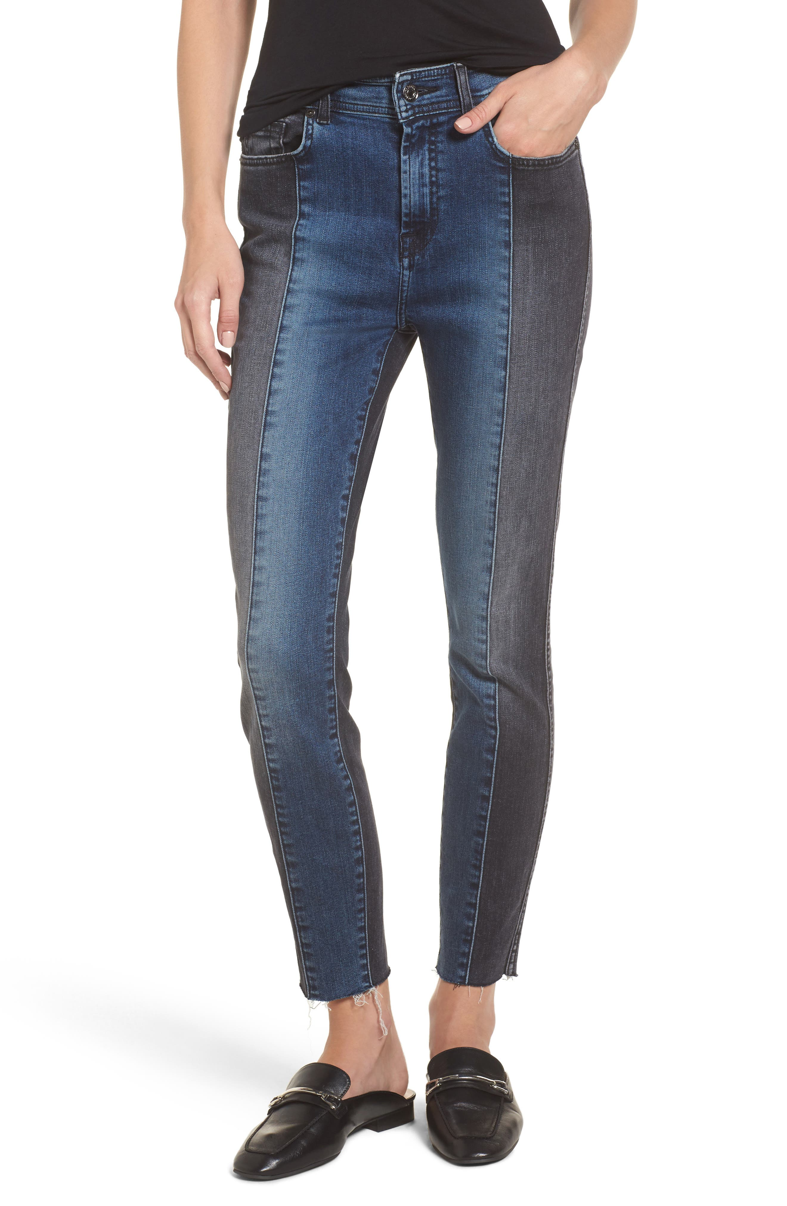 Main Image - 7 For All Mankind® The Ankle Skinny Jeans (Indigo Sulphur)