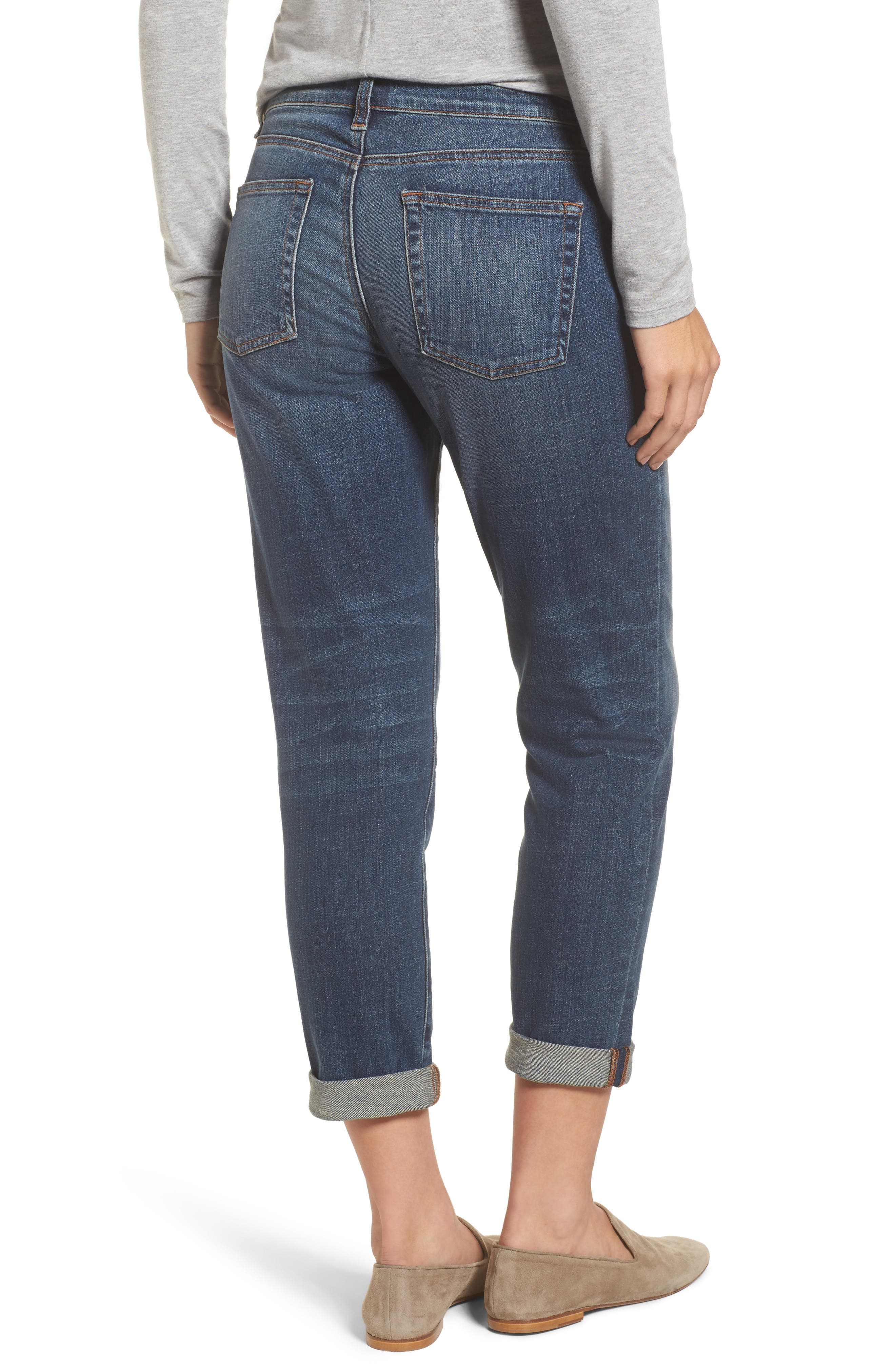 Alternate Image 2  - Eileen Fisher Organic Cotton Boyfriend Jeans (Online Only) (Regular & Petite)