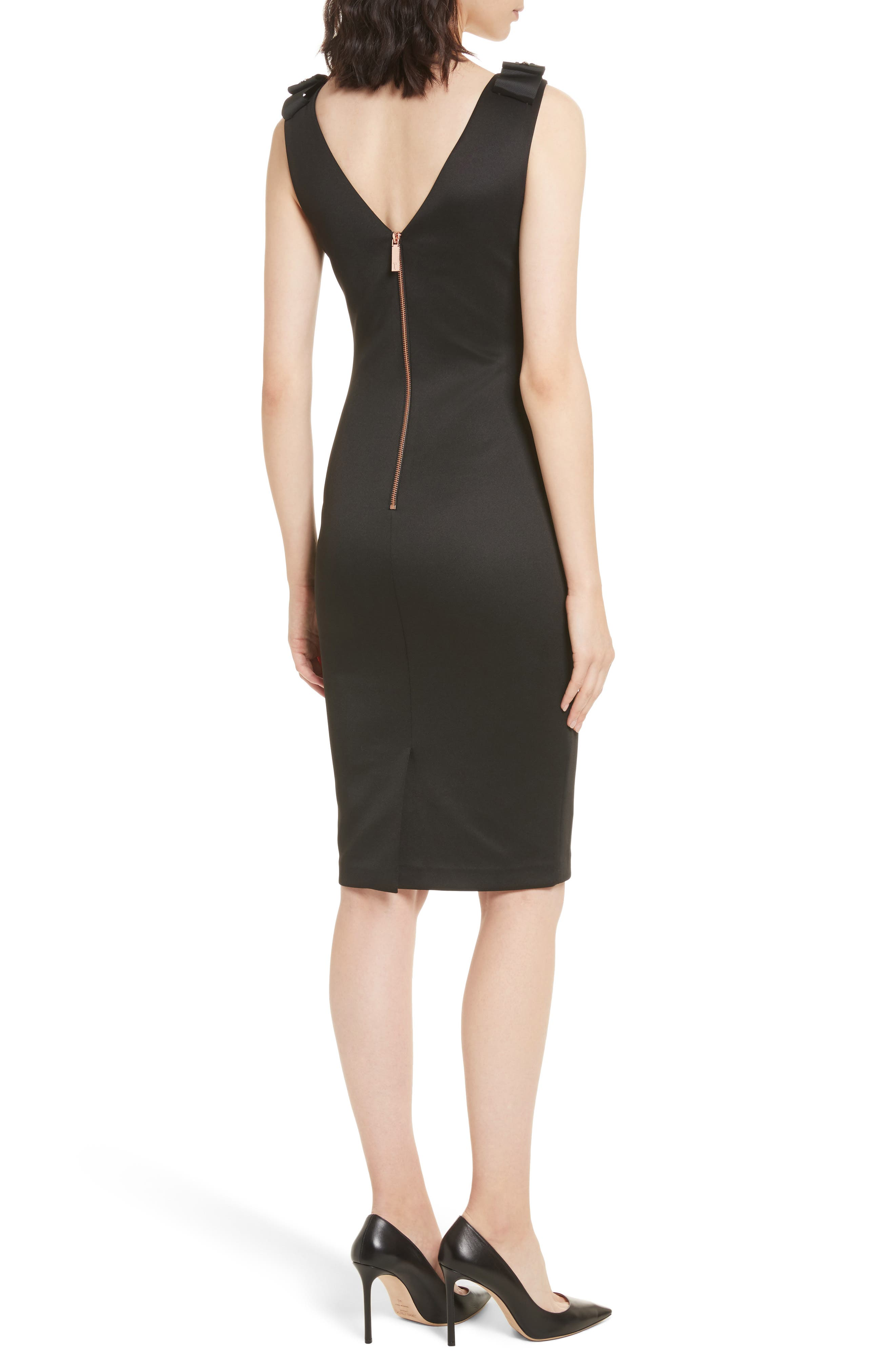Alternate Image 2  - Ted Baker London Belliah Bow Shoulder Body-Con Dress
