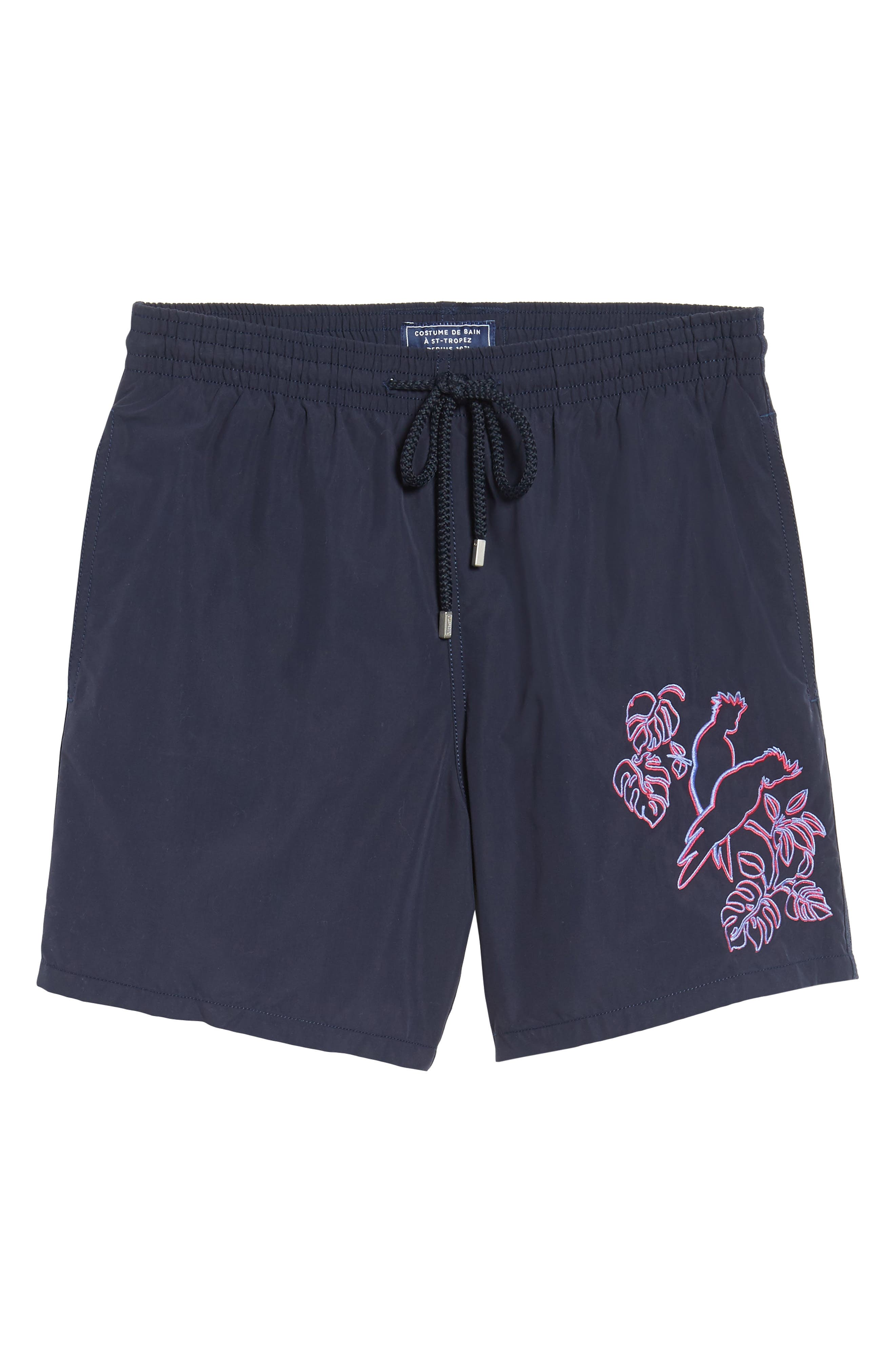 Alternate Image 6  - Vilebrequin Embroidered Cockatoo Swim Trunks