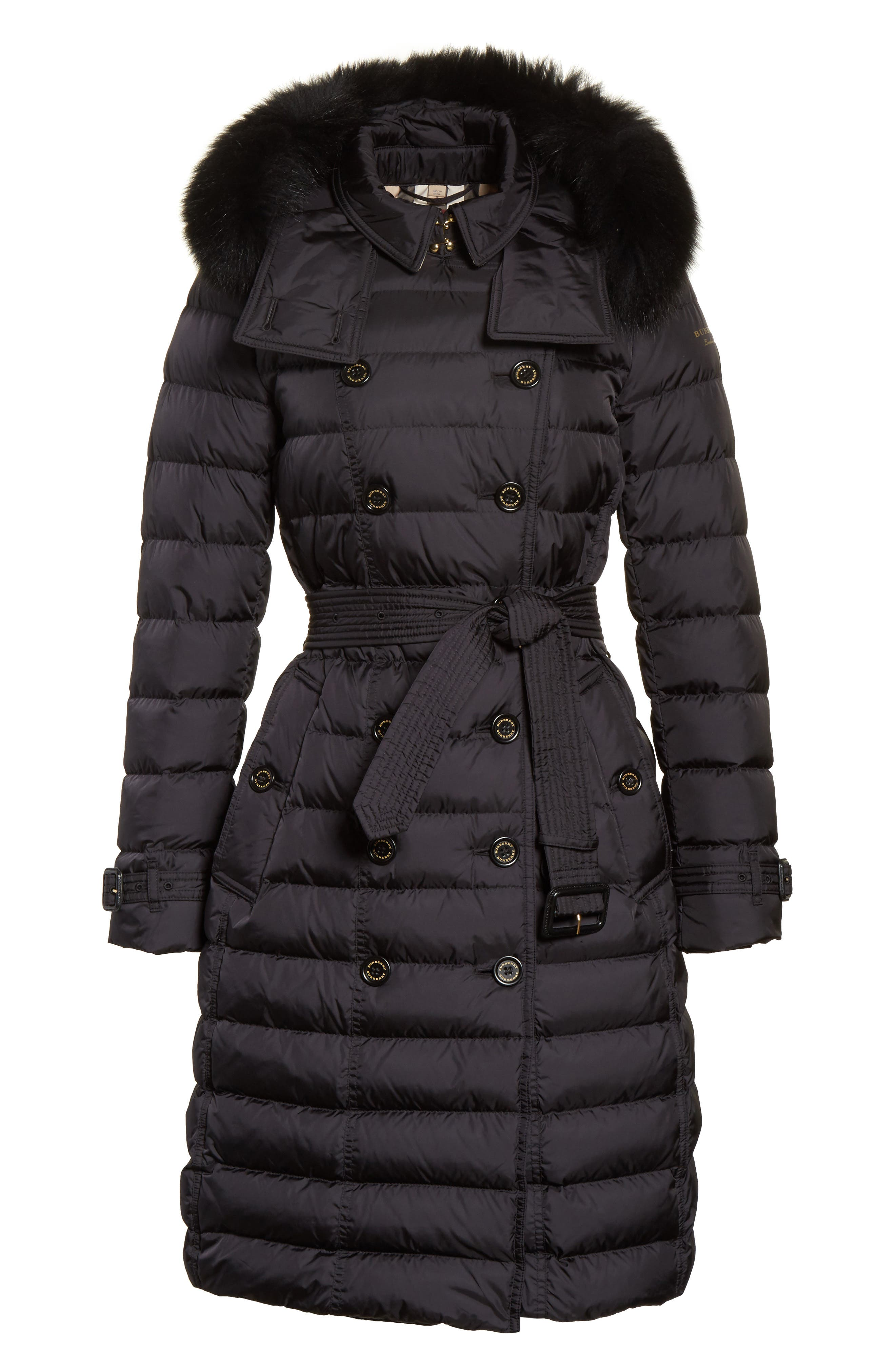 Alternate Image 6  - Burberry Hooded Down Puffer Coat with Genuine Fox Fur Trim