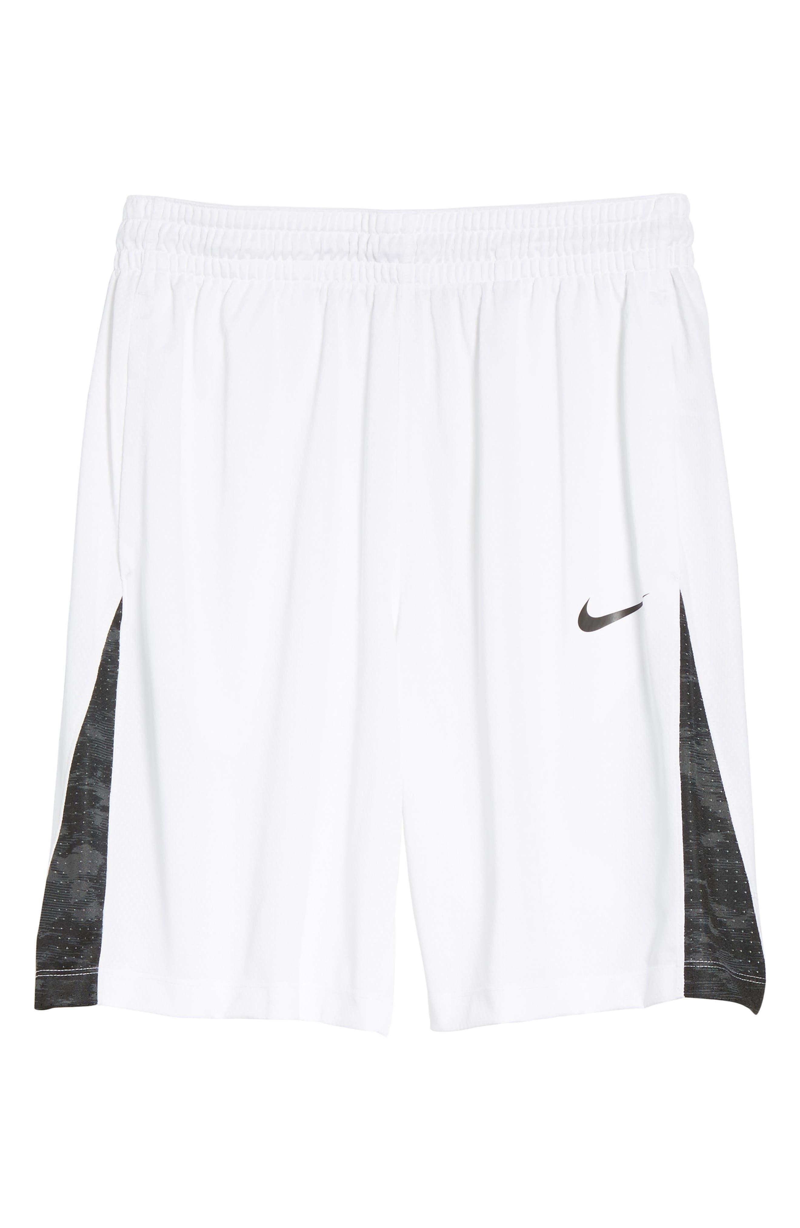 Basketball Shorts,                         Main,                         color, White/ Black