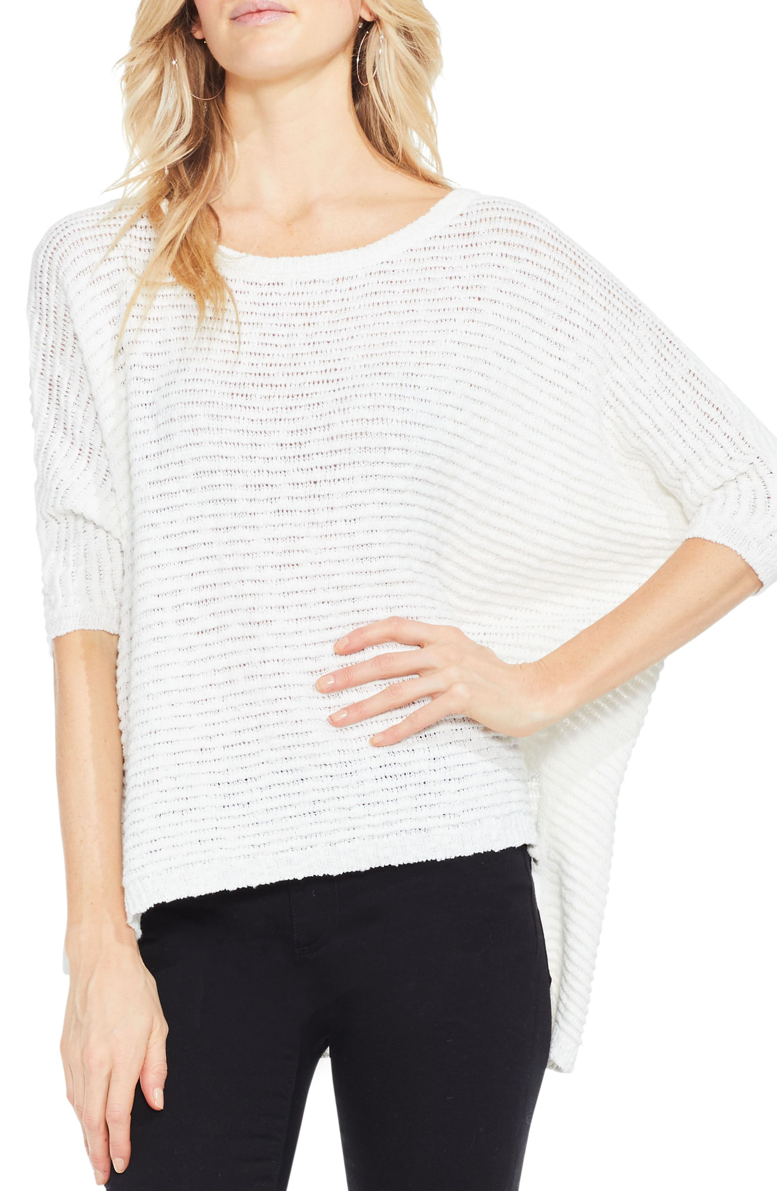 Main Image - Two by Vince Camuto Crinkle Yarn Dolman Sleeve Top