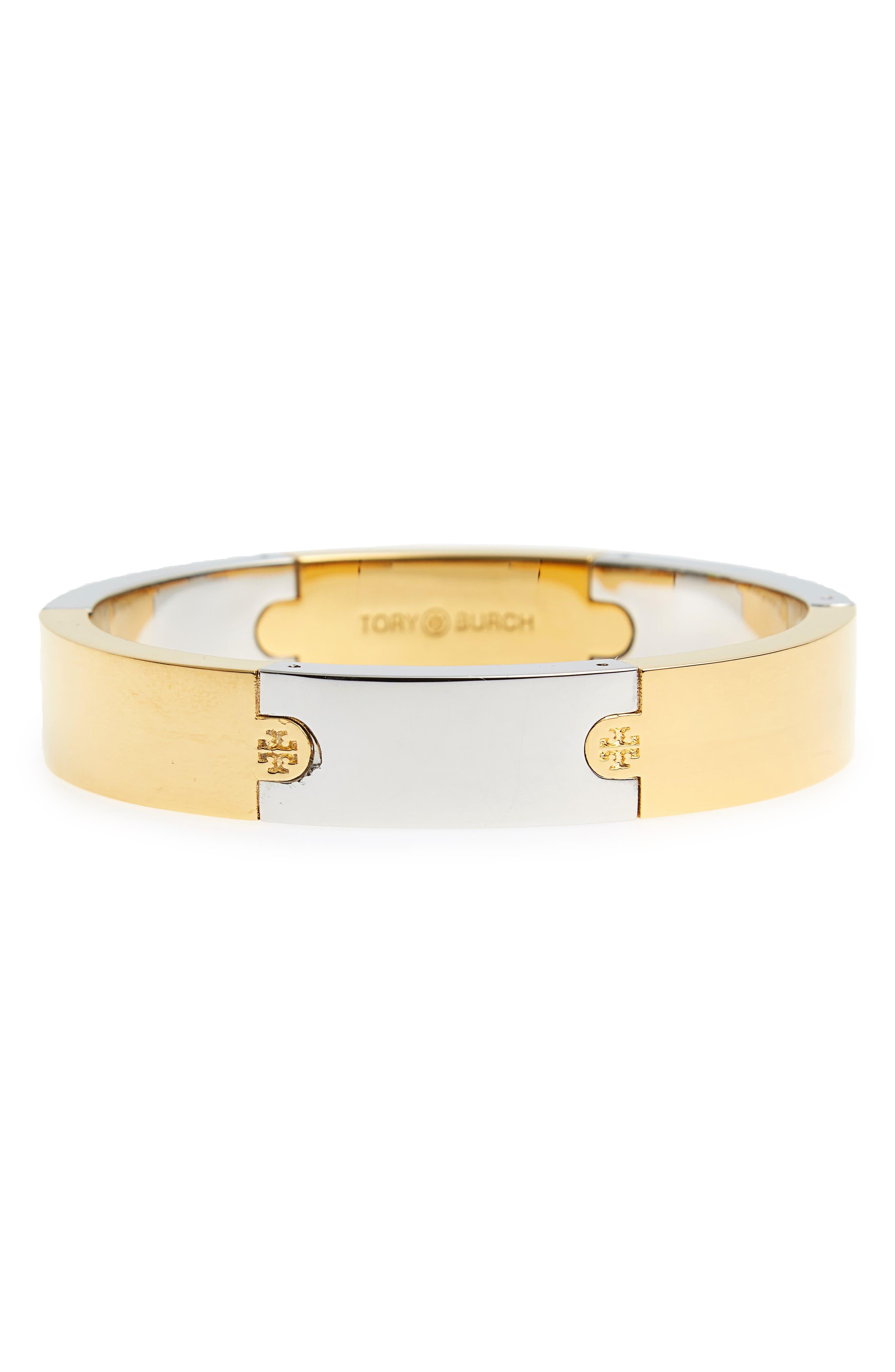 Puzzle Bracelet,                         Main,                         color, Tory Gold / Tory Silver