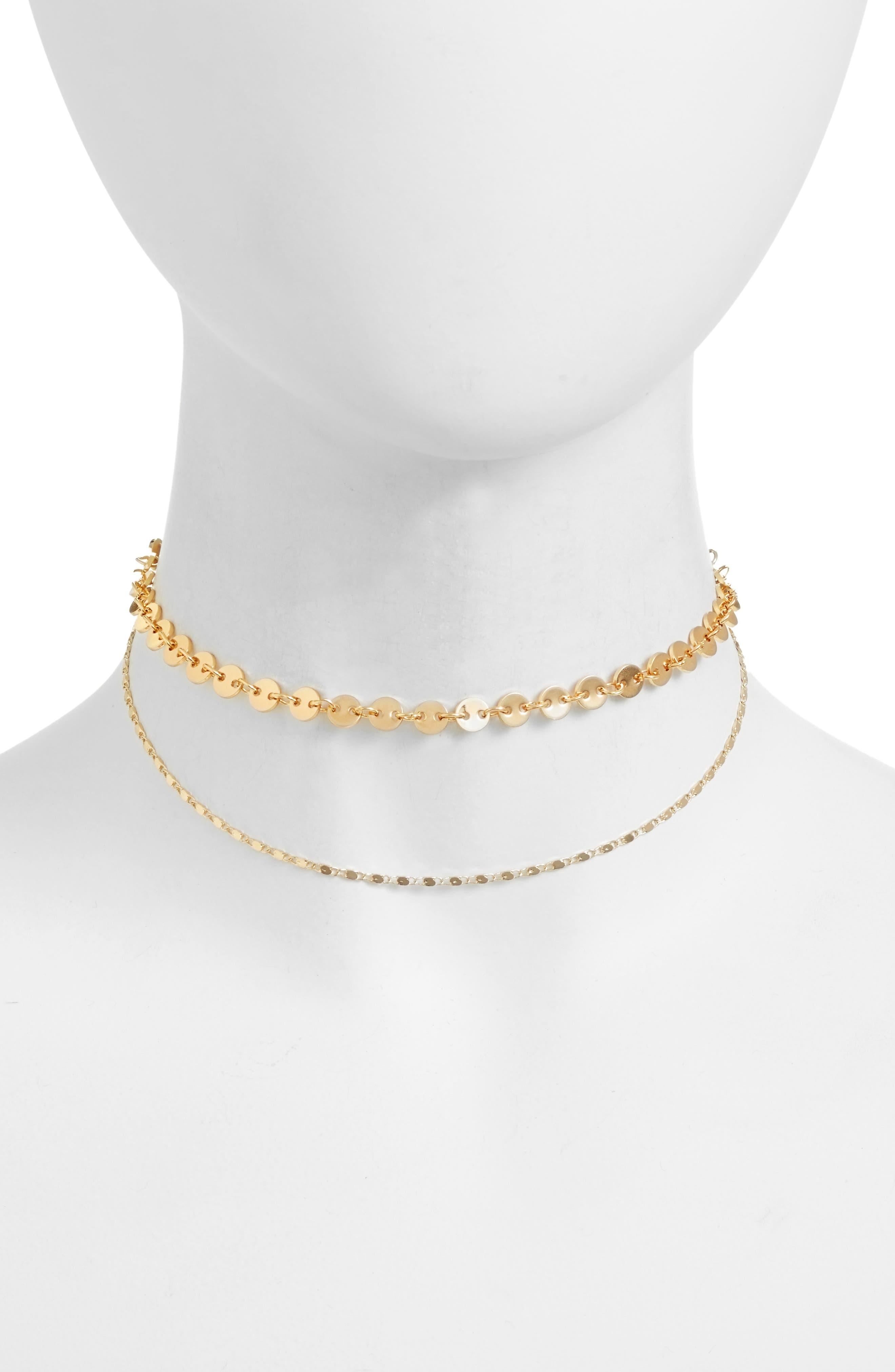 Capella Choker,                         Main,                         color, Gold