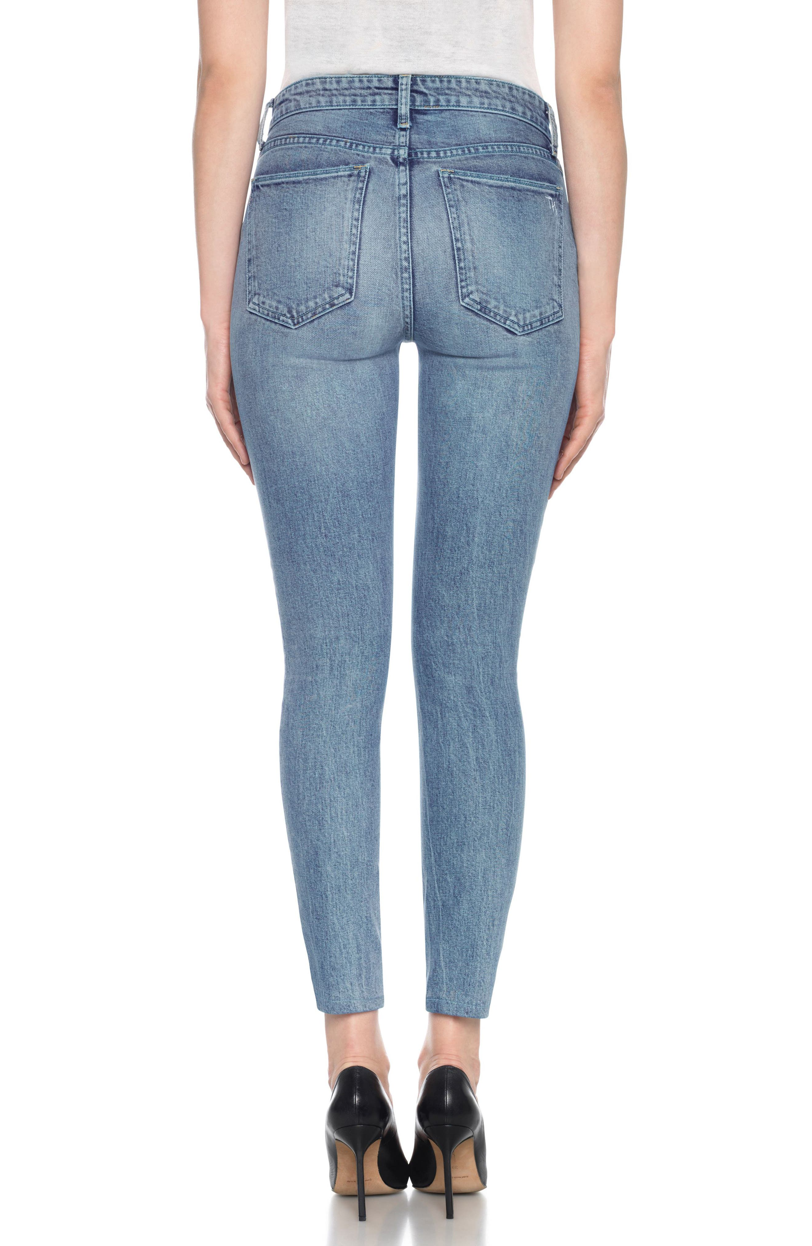 Charlie High Waist Ankle Skinny Jeans,                             Alternate thumbnail 3, color,                             Colorado
