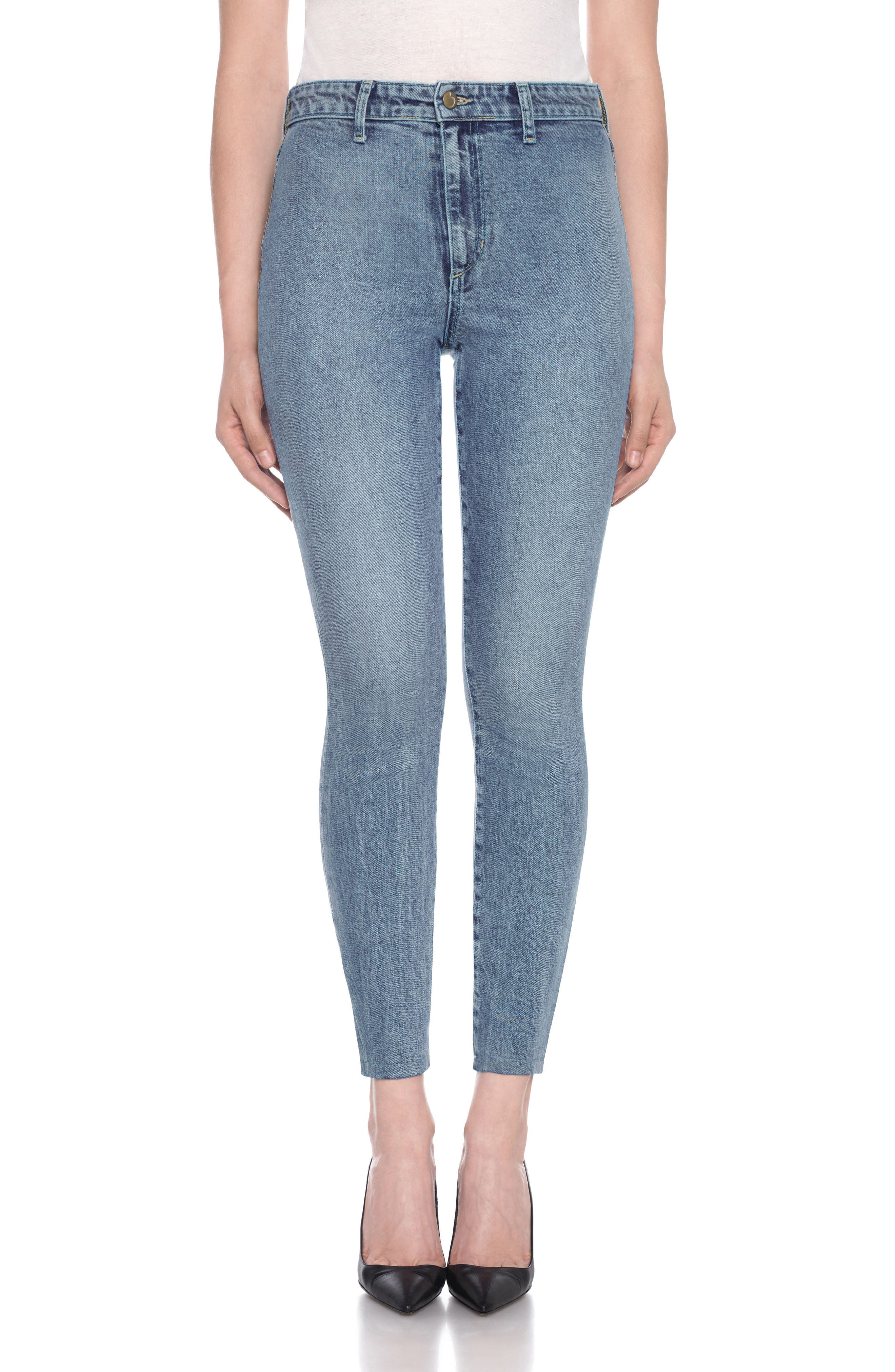 Charlie High Waist Ankle Skinny Jeans,                             Main thumbnail 1, color,                             Colorado