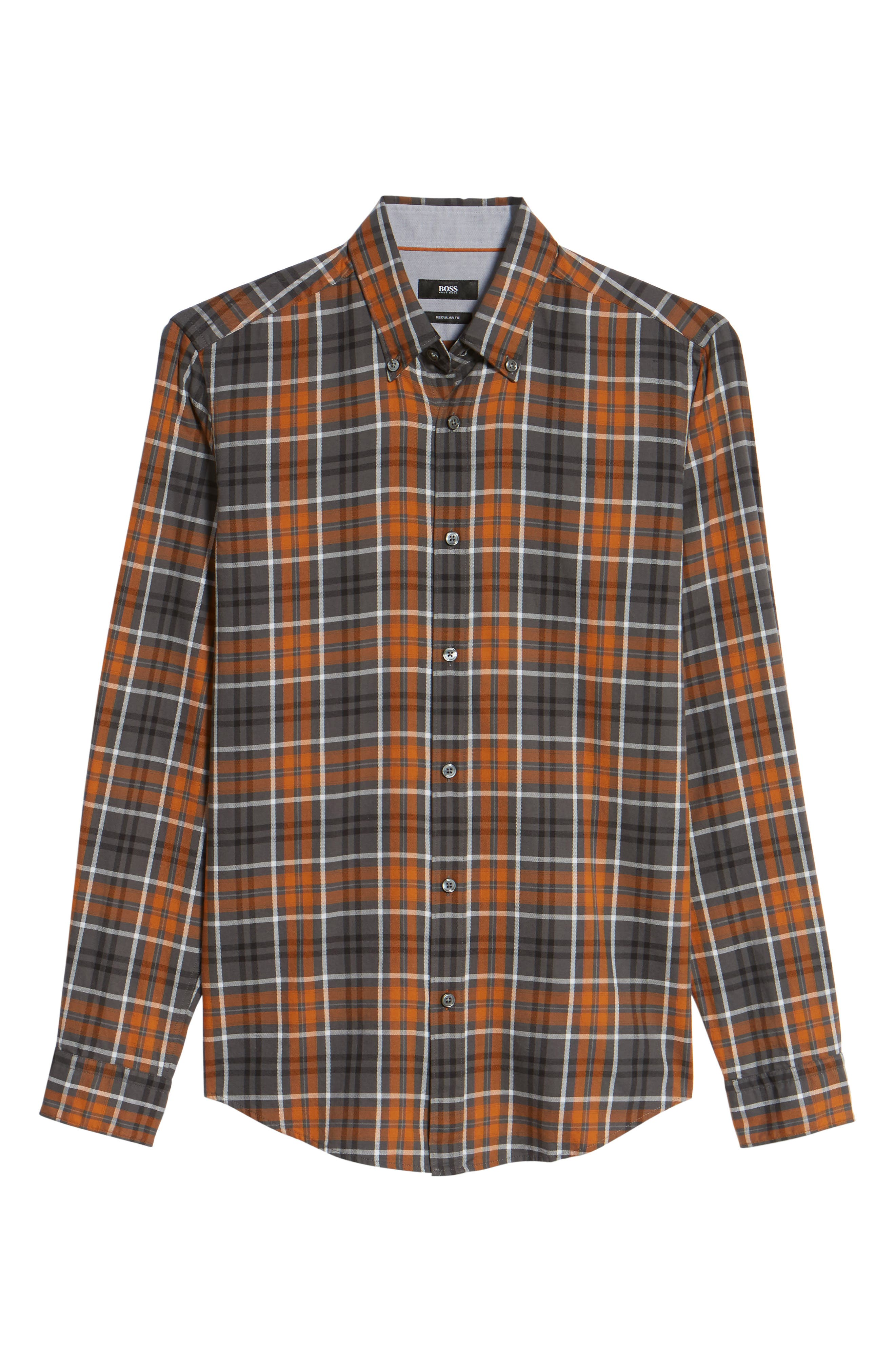 Check Sport Shirt,                             Alternate thumbnail 6, color,                             Brown