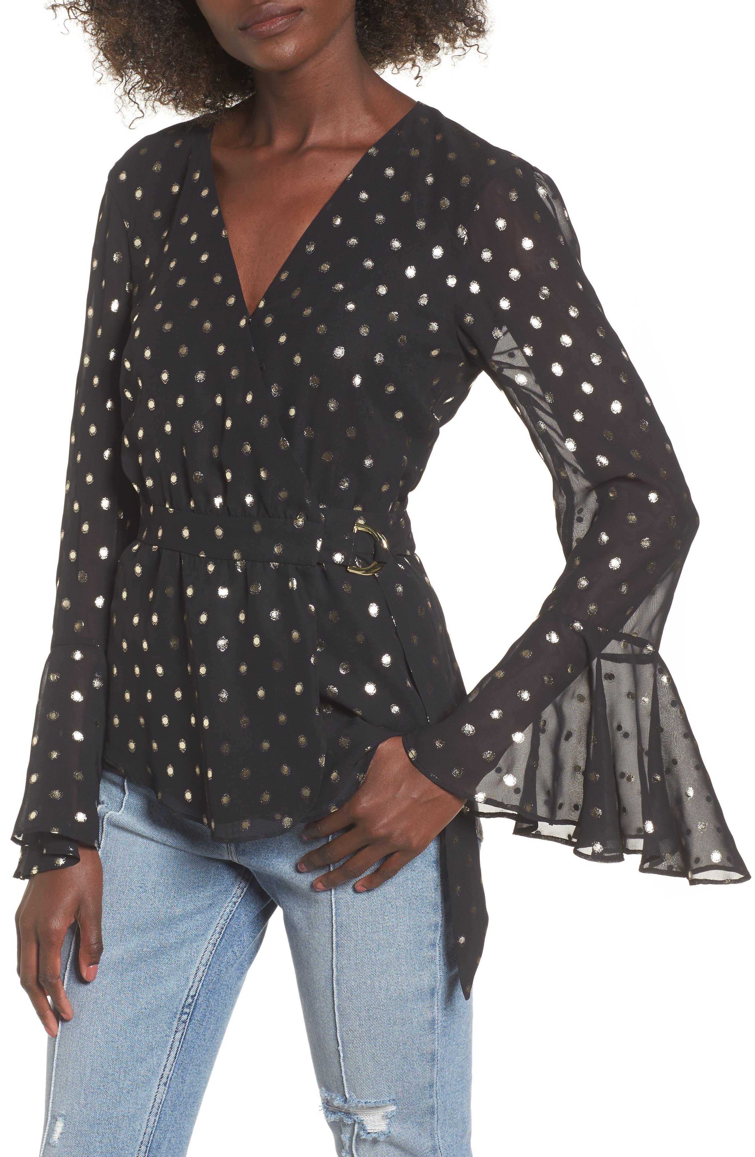 Arabelle Blouse,                         Main,                         color, Black