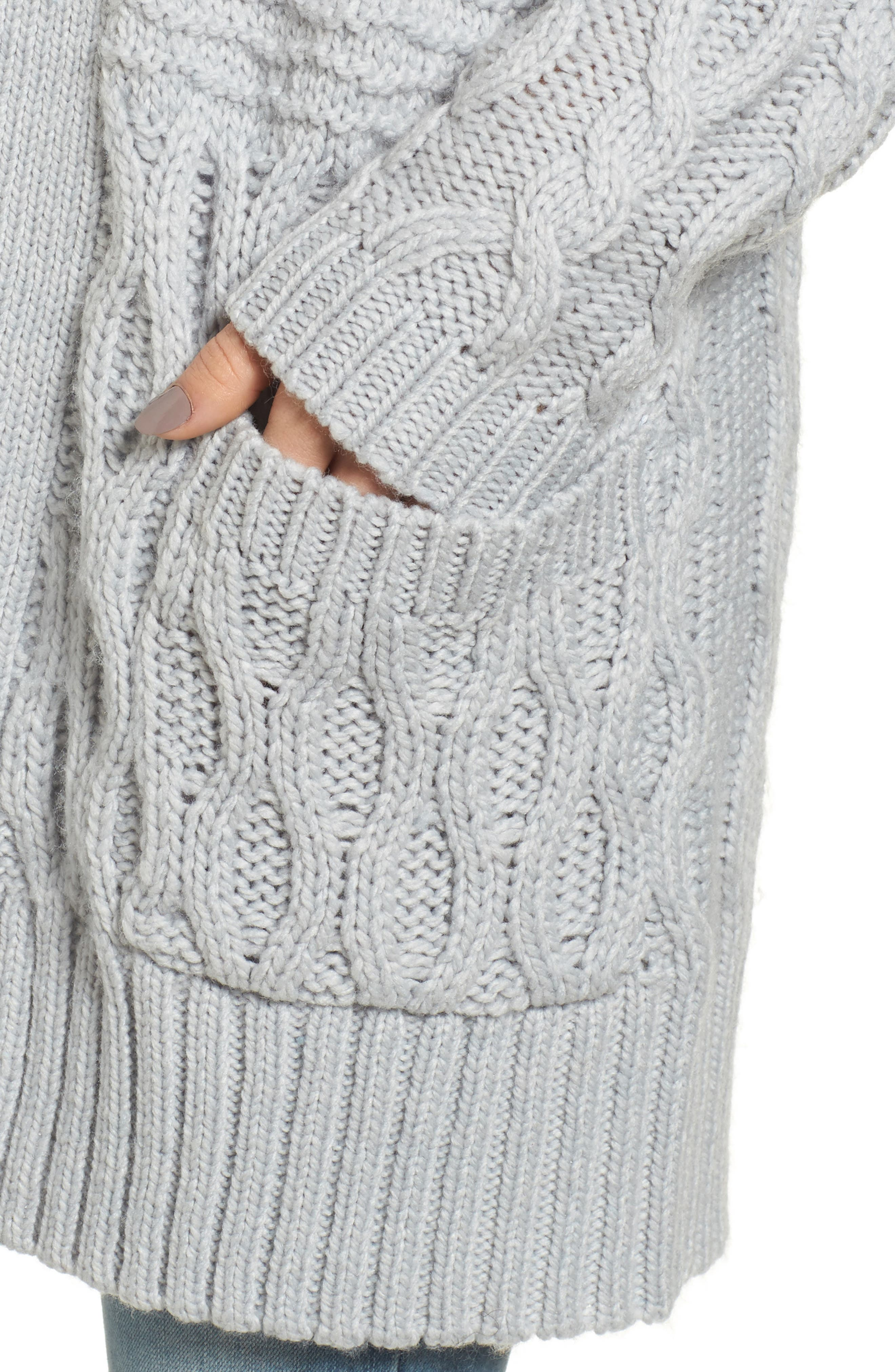 Alternate Image 4  - BP. Cable Knit Cardigan