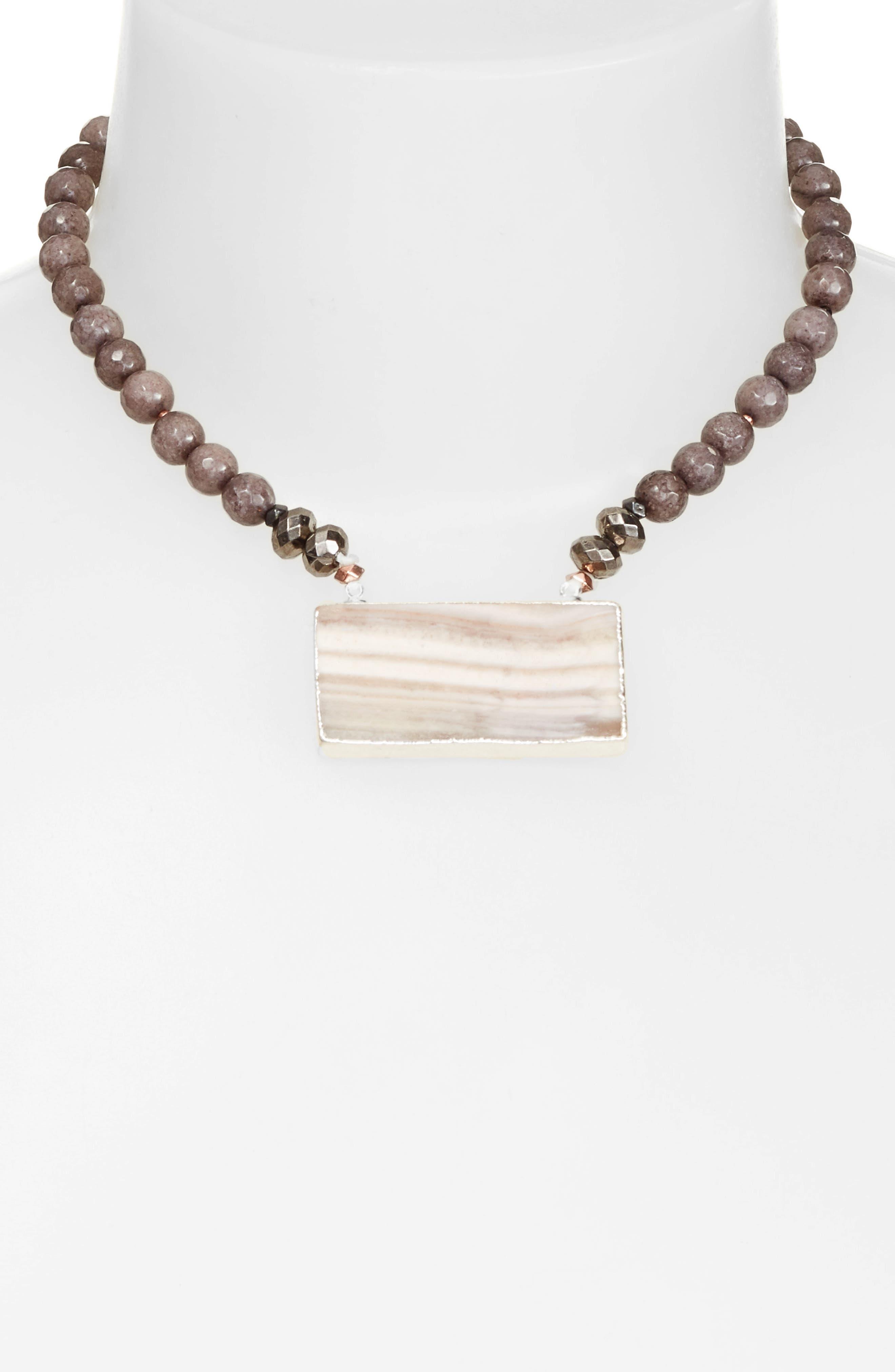 Alternate Image 2  - Nakamol Design Rectangular Agate Pendant Necklace