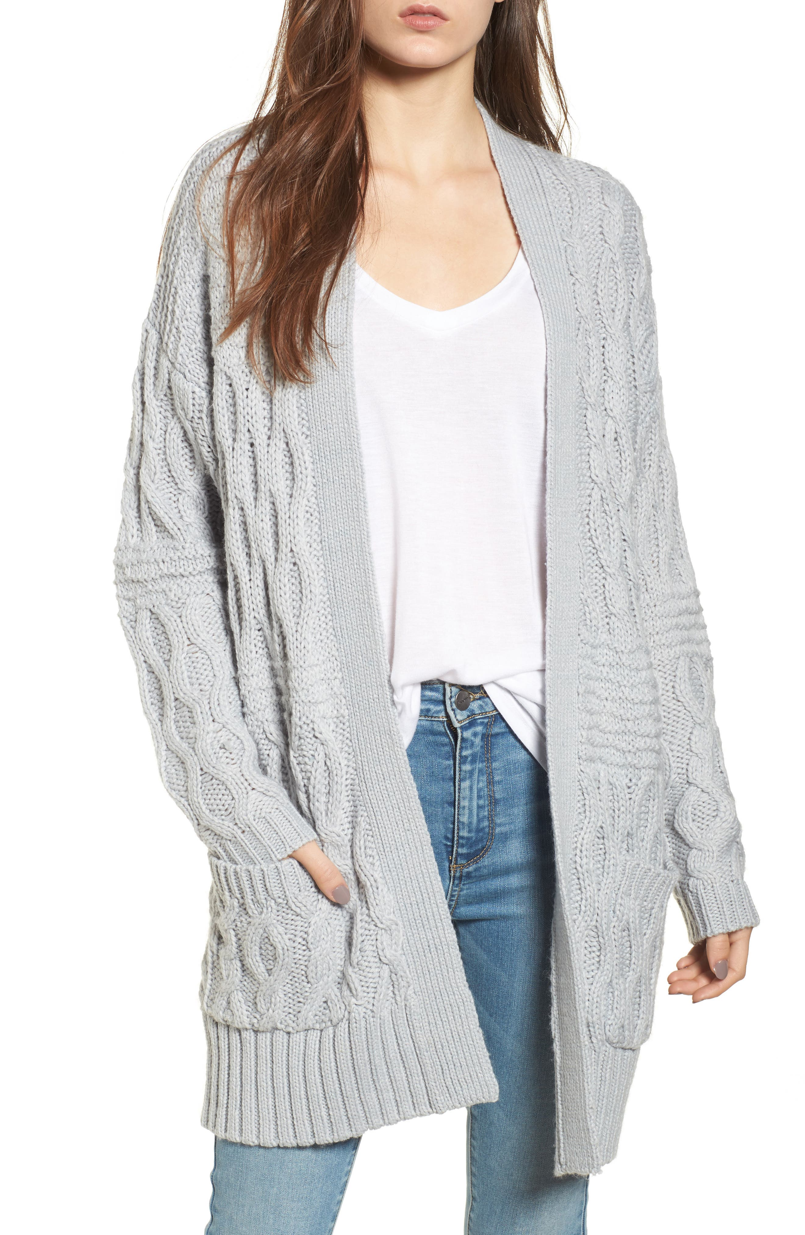 Main Image - BP. Cable Knit Cardigan