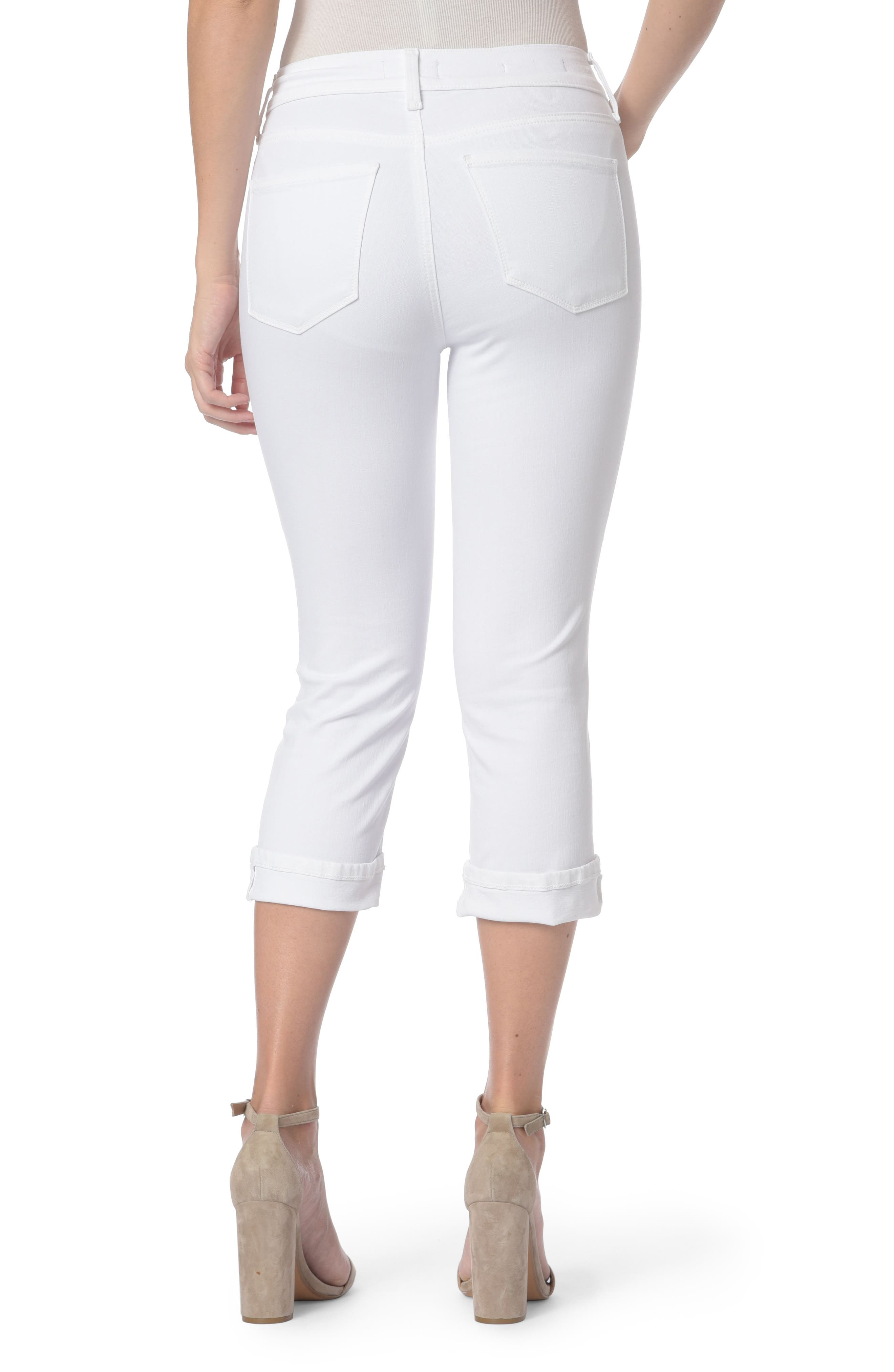 Marilyn Crop Jeans,                             Alternate thumbnail 2, color,                             Optic White