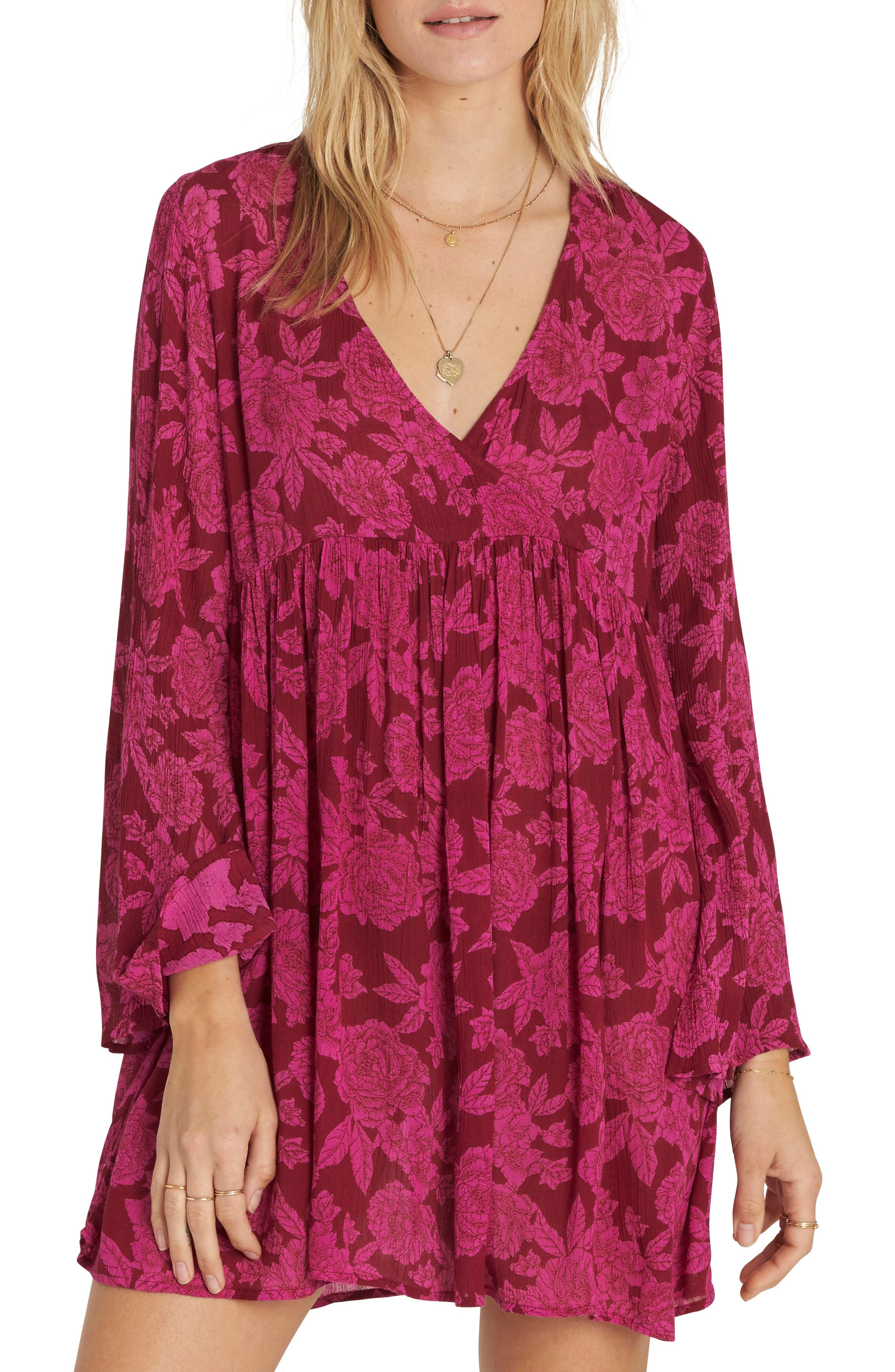 Take Today Babydoll Dress,                             Main thumbnail 1, color,                             Pomegranate