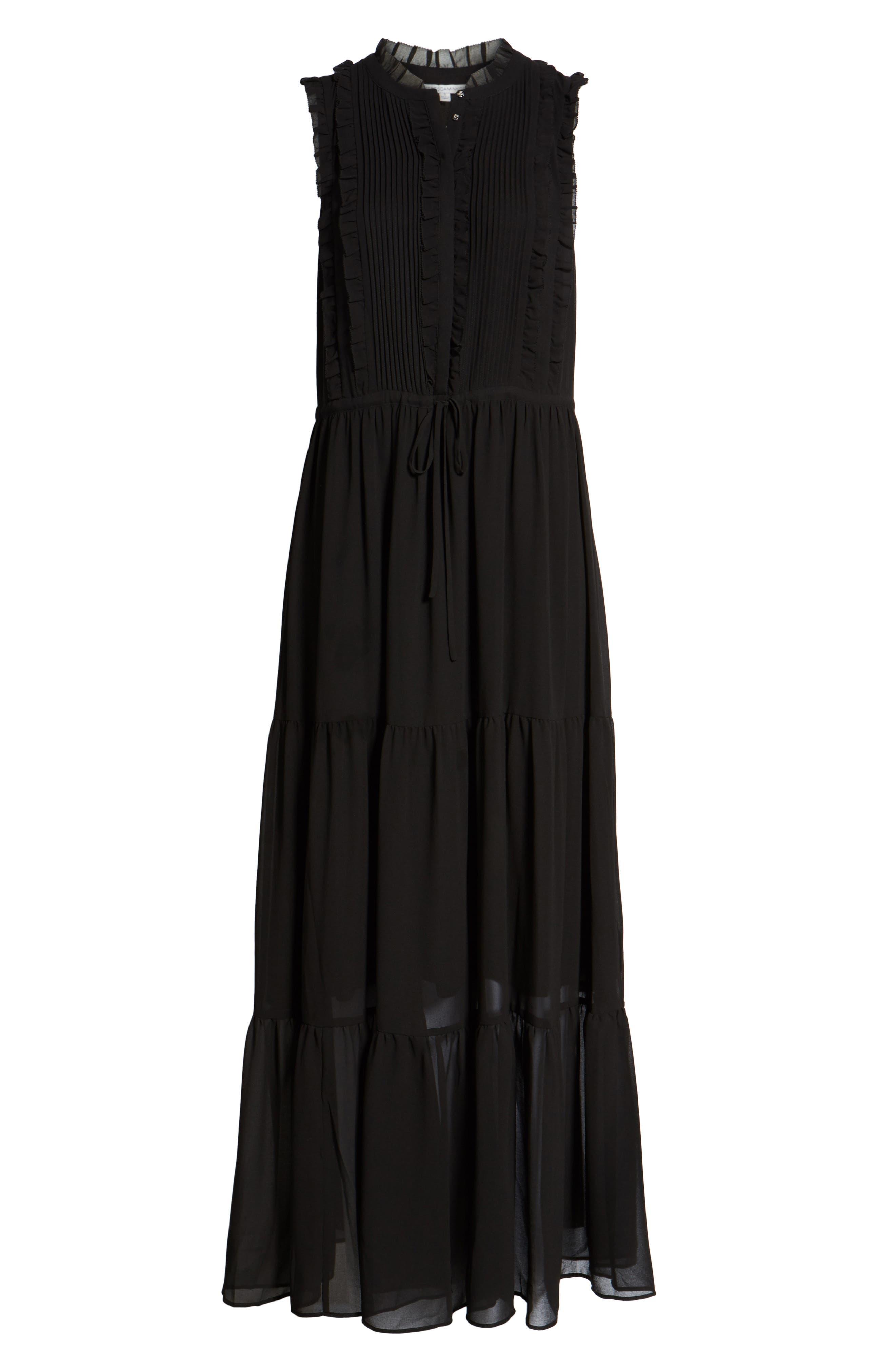Ami Maxi Dress,                             Alternate thumbnail 6, color,                             Black