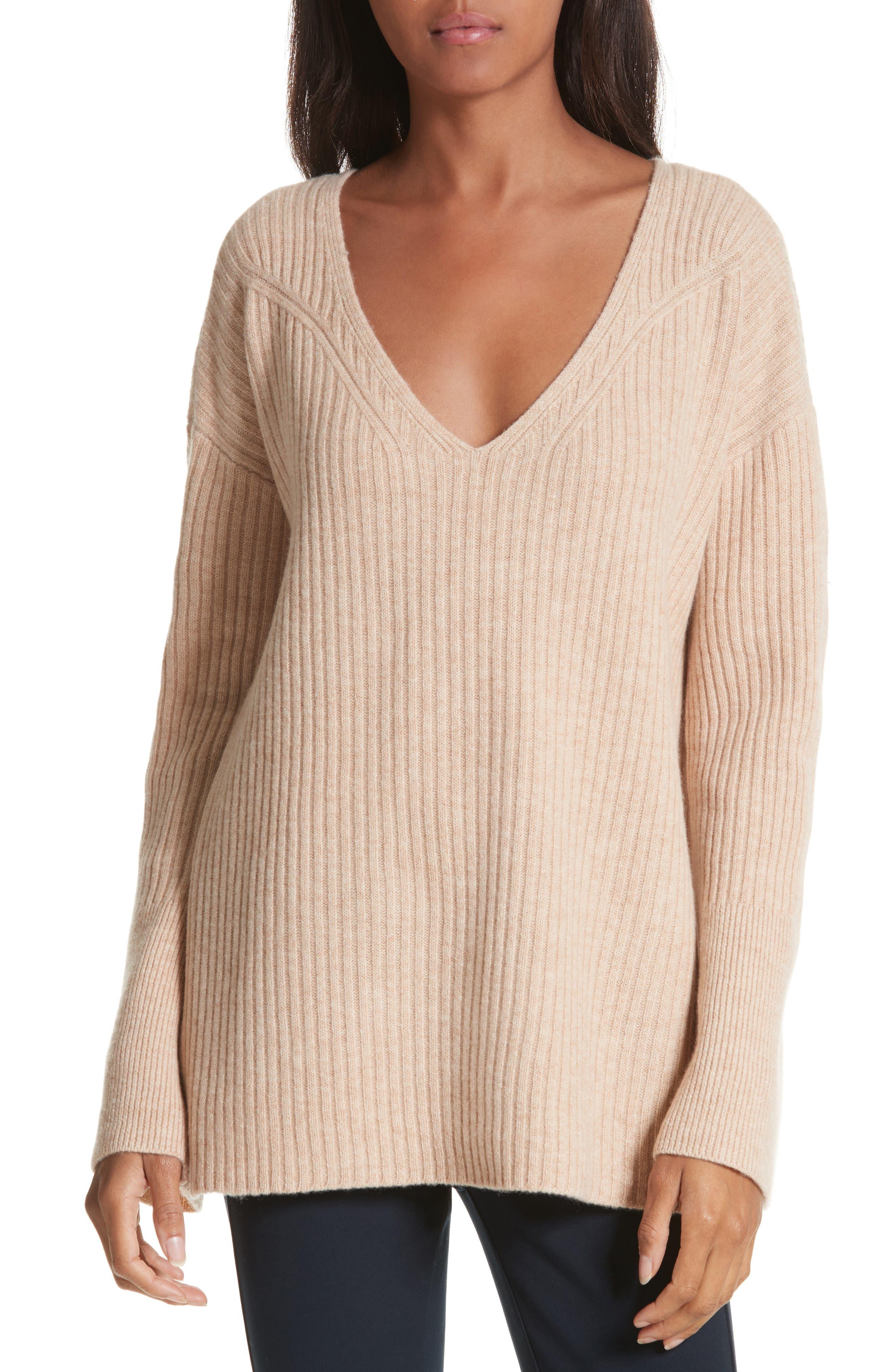 Mitchell Merino Wool Sweater,                             Main thumbnail 1, color,                             Oat