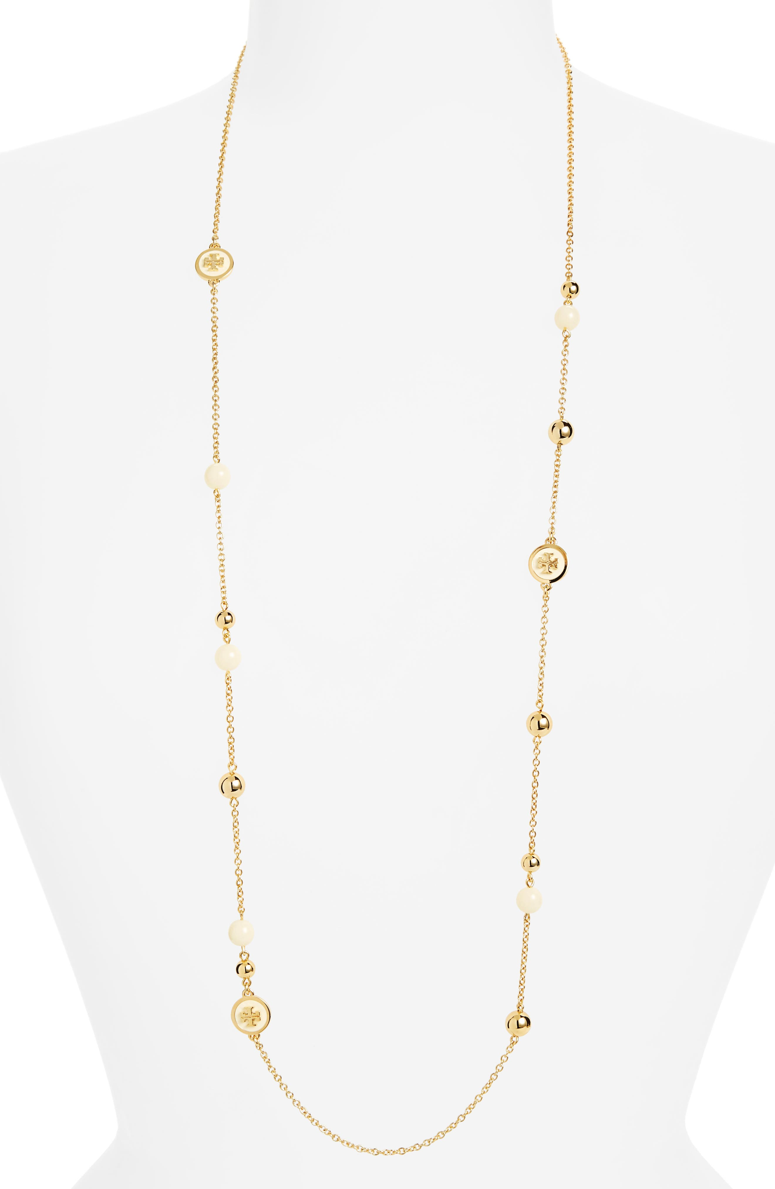 Main Image - Tory Burch Rosary Station Necklace