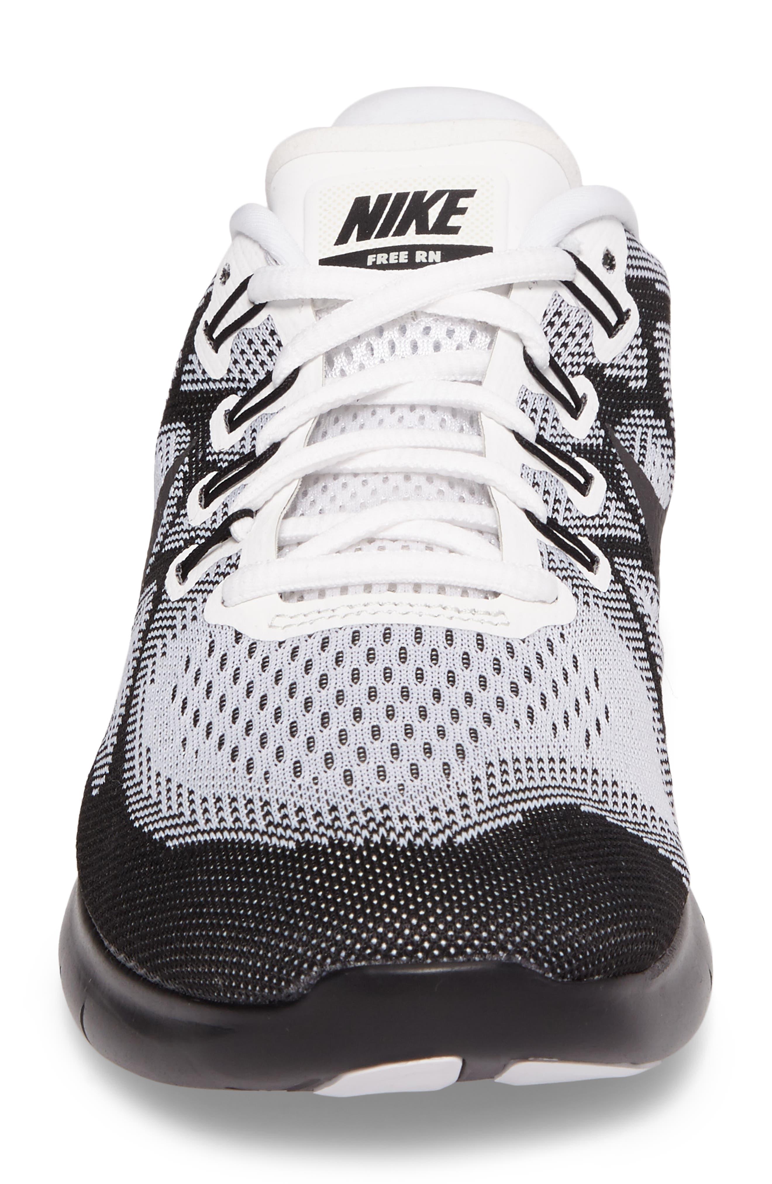 Free RN 2017 LE Running Shoe,                             Alternate thumbnail 4, color,                             Black/Black/White