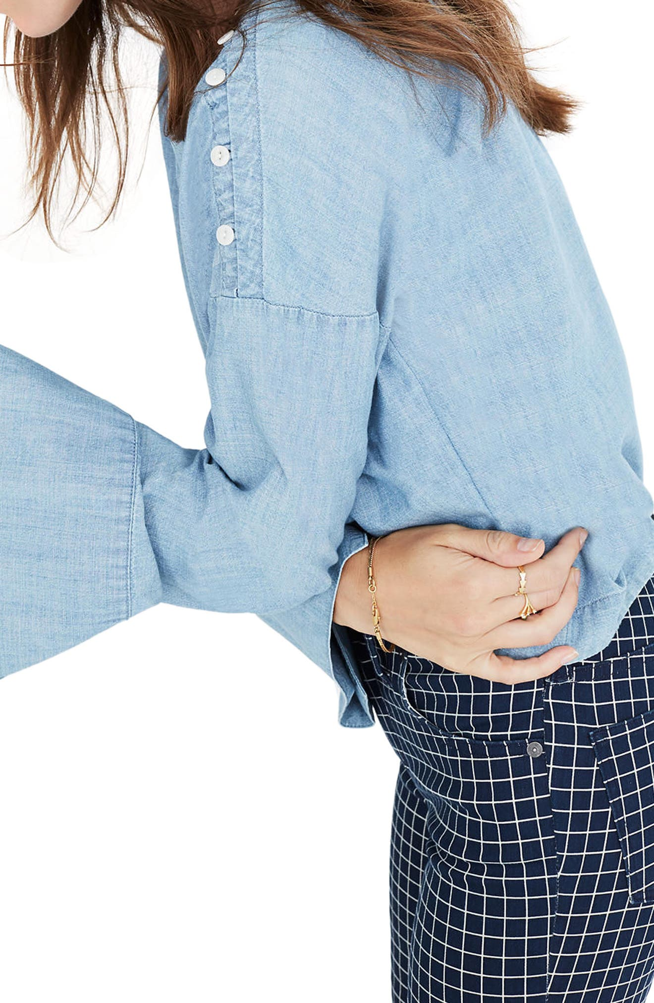 Alternate Image 2  - Madewell Convertible Shoulder Chambray Top