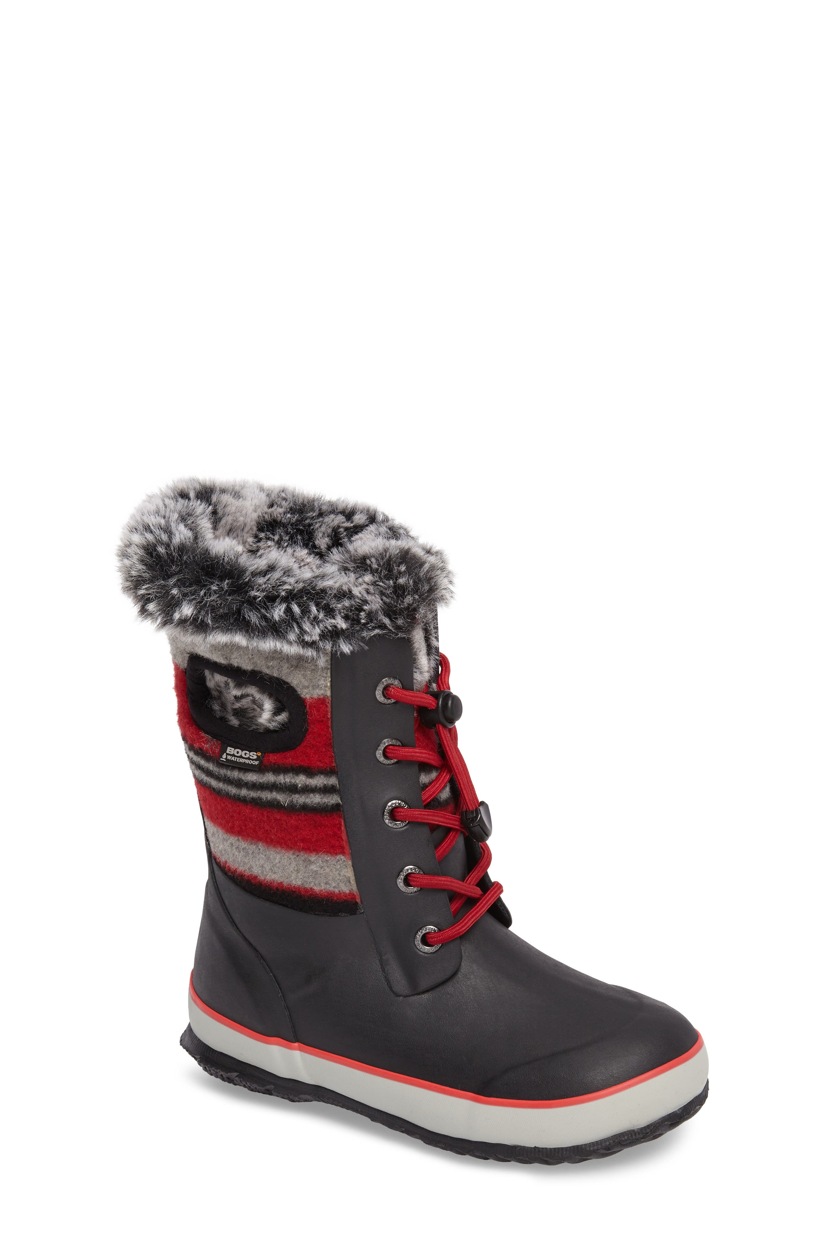 Bogs Arcata Stripe Waterproof Insulated Faux Fur Boot (Walker, Toddler, Little Kid & Big Kid)