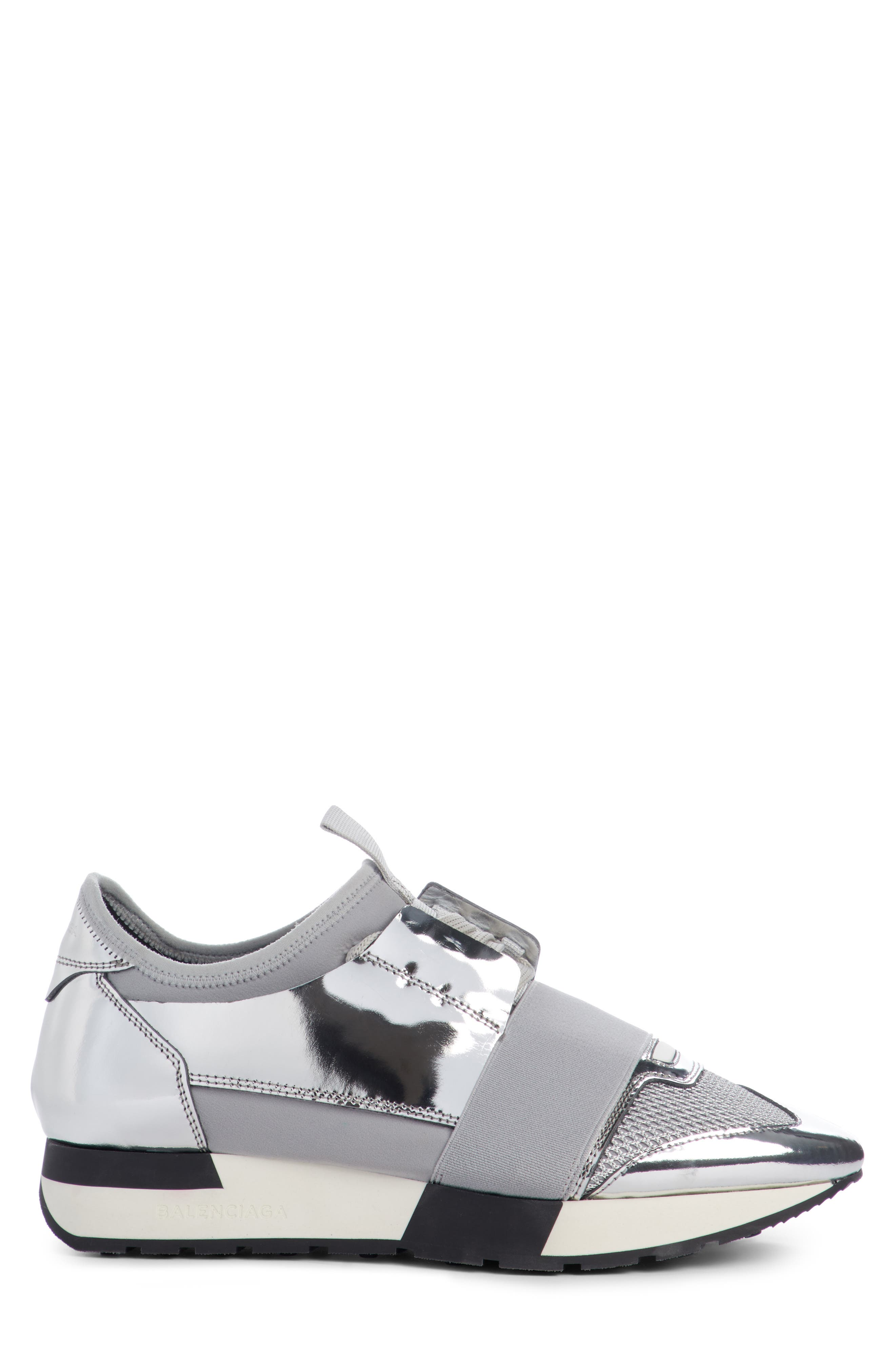 Lace-Up Sneaker,                             Alternate thumbnail 4, color,                             Silver