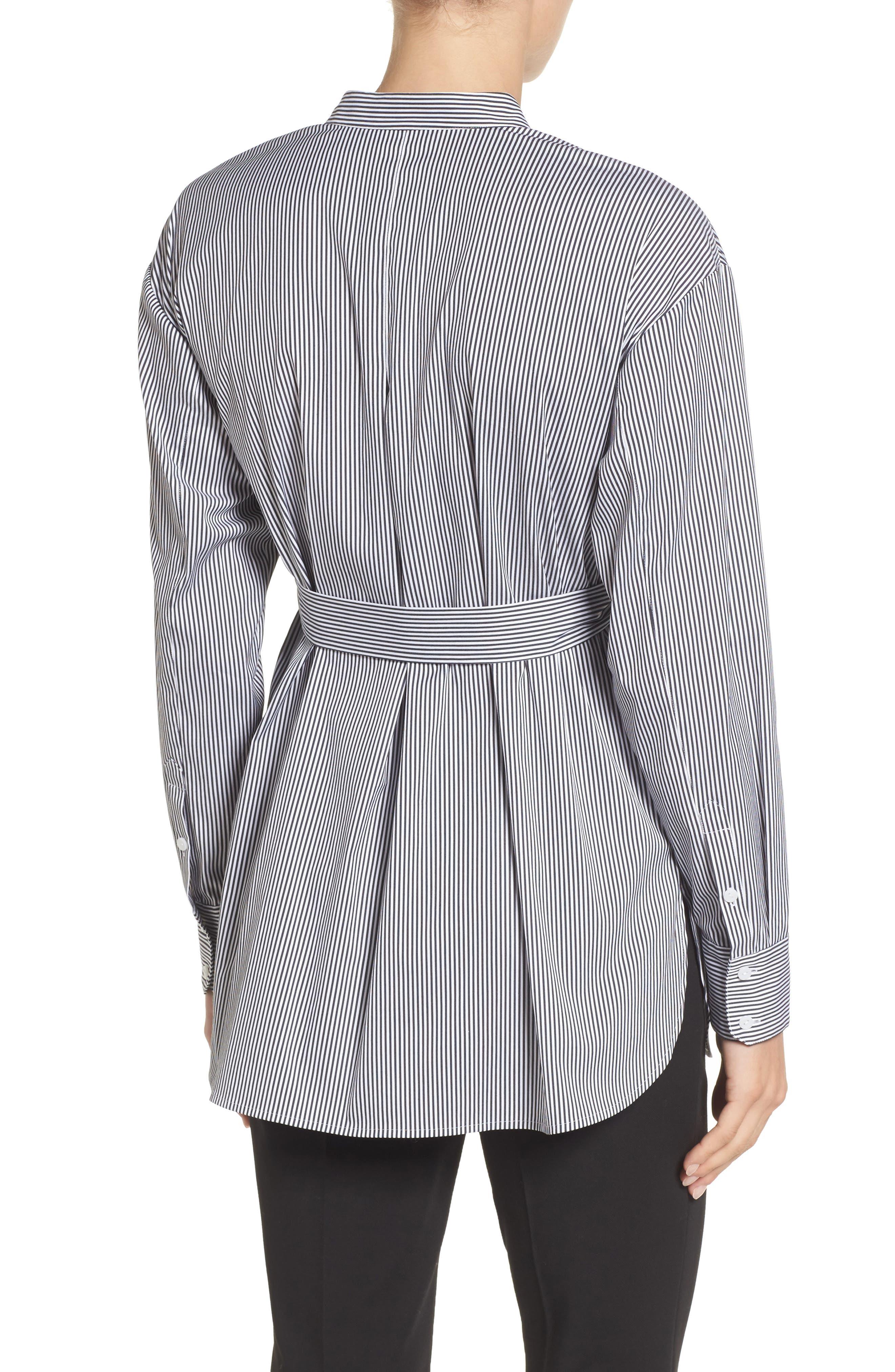 Alternate Image 2  - Halogen® Belted Poplin Shirt (Regular & Petite)